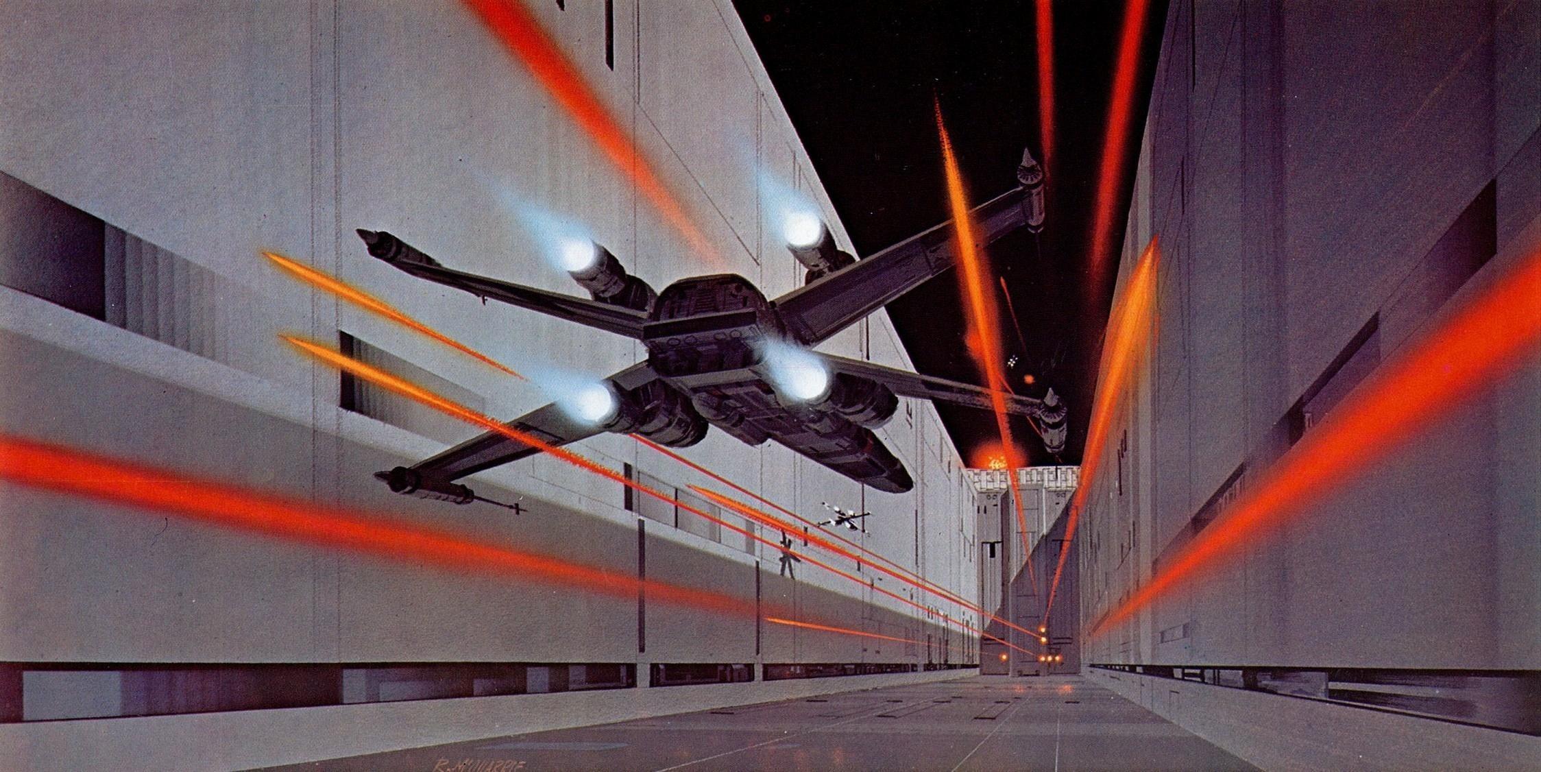 X-Wing-Vs-Death-Star-wallpaper