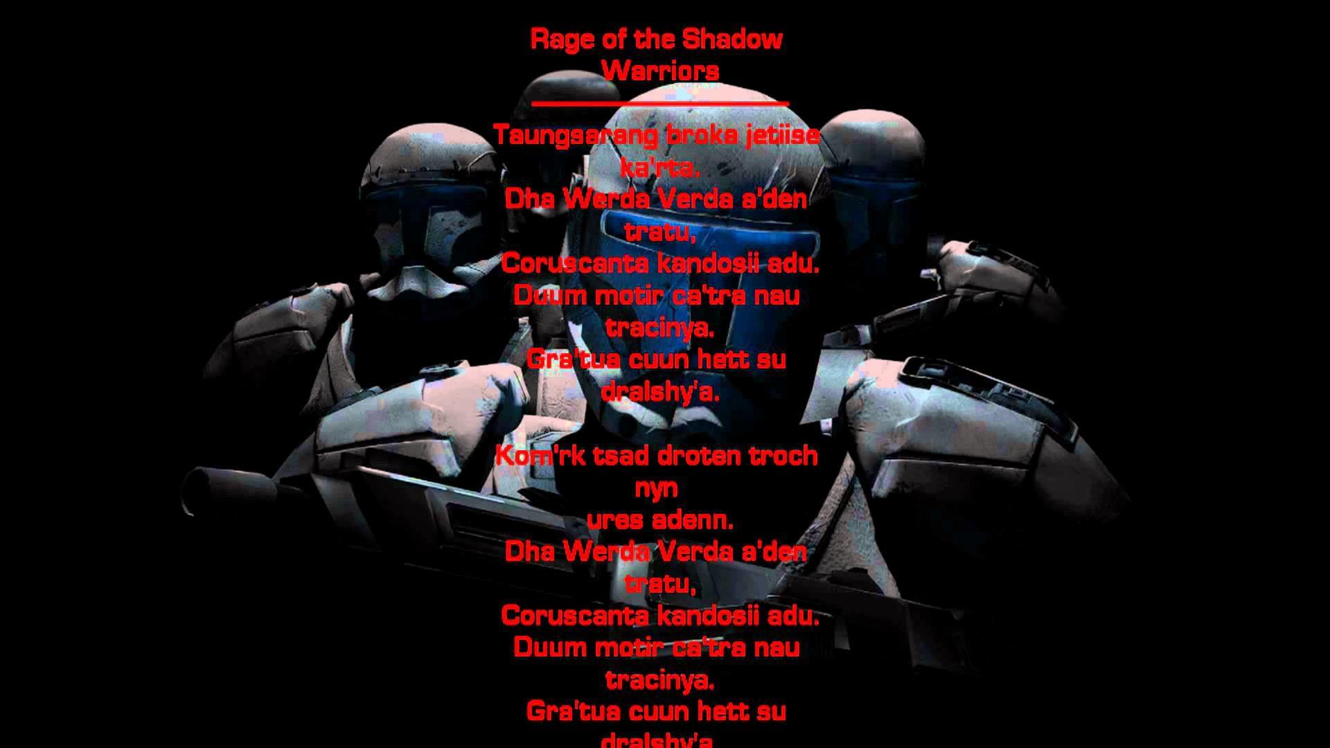 Star Wars: Republic Commando Music – Rage of the Shadow Warriors w/ Ancient  Mandalorian Lyrics – YouTube