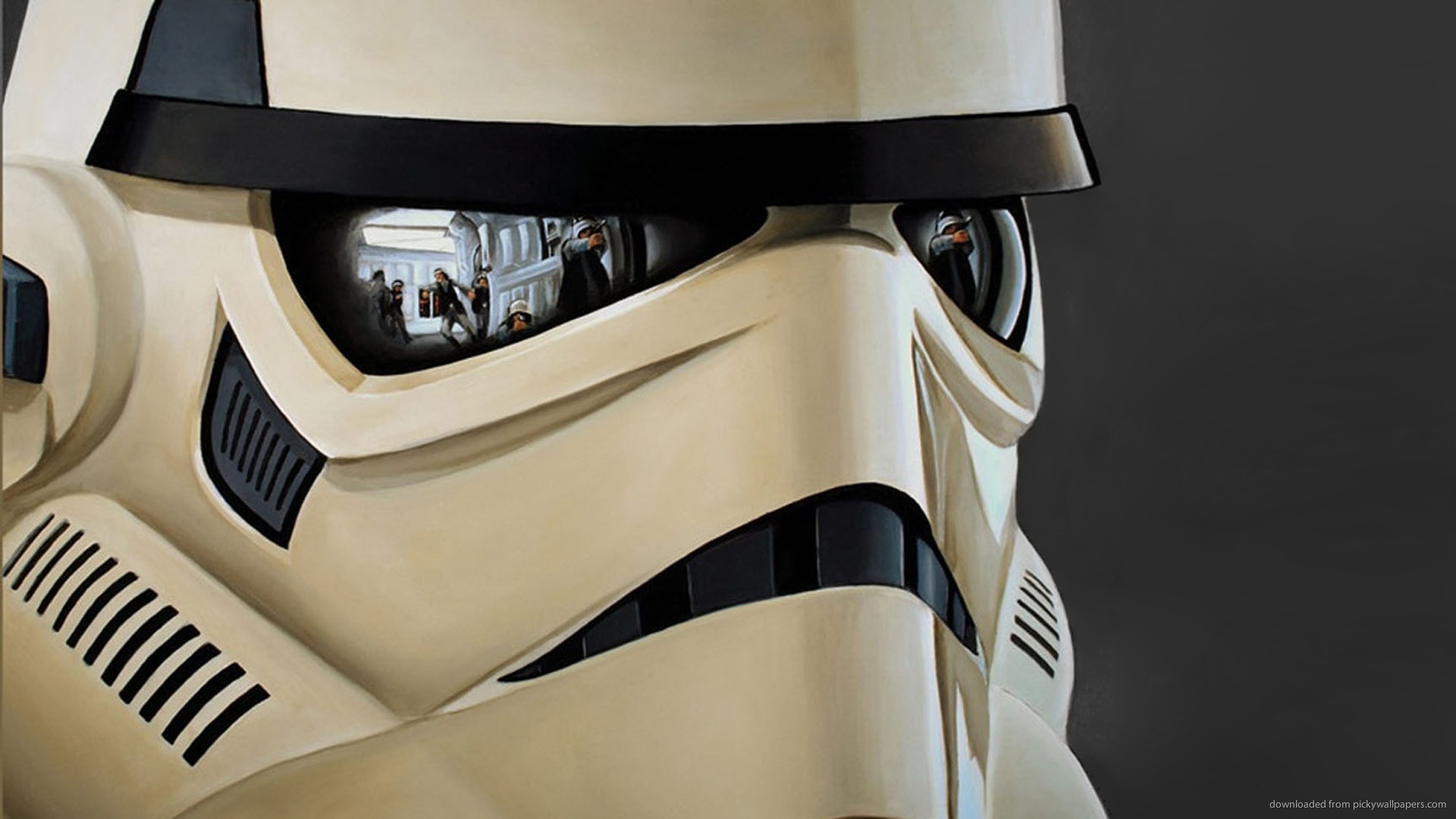 Stormtrooper with reflections wallpaper