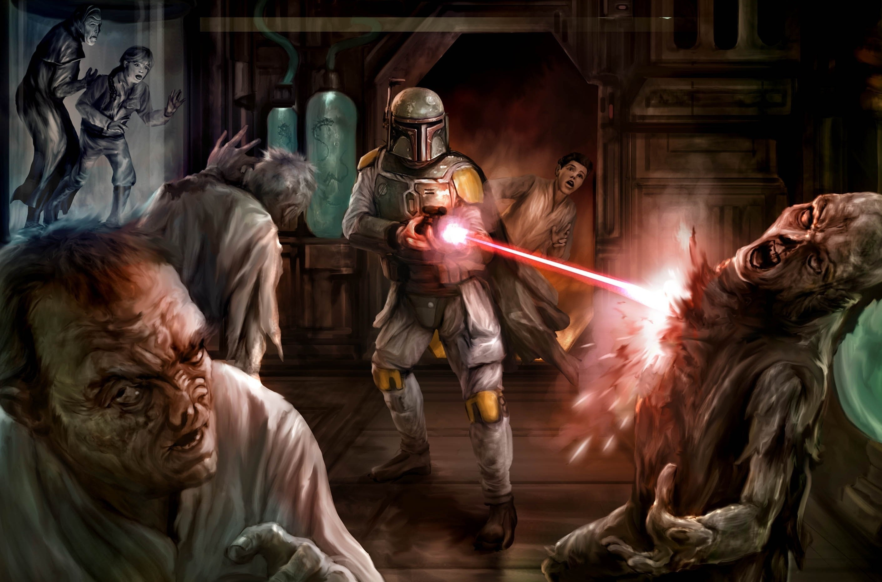 Sci Fi – Star Wars Boba Fett People Creature Alien Weapon Laser Wallpaper
