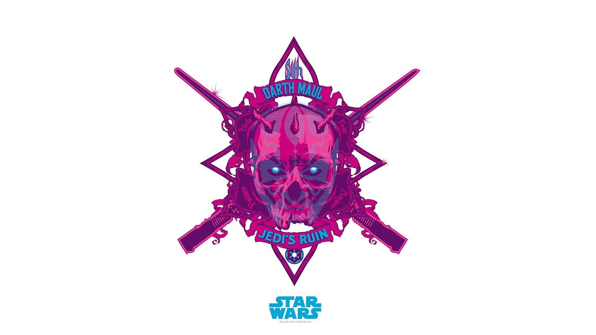 anime, Darth Maul, Logo, Star Wars