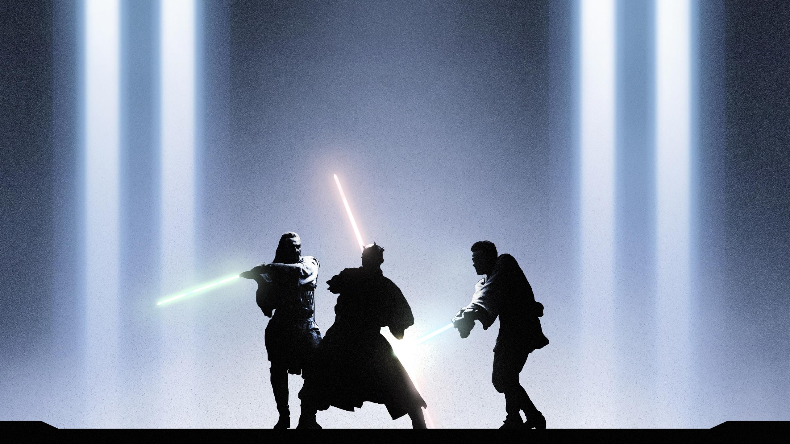 Star Wars Obi Wan Qui Gon Darth Maul