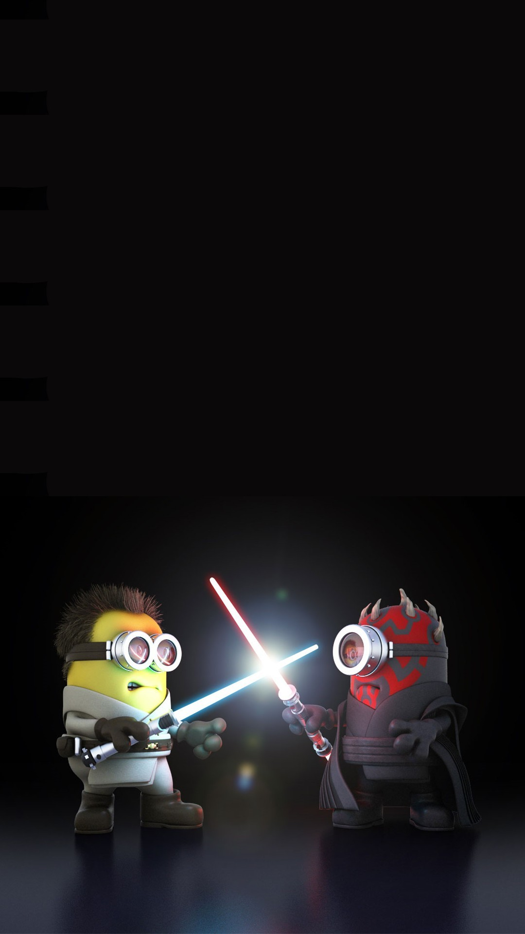 Vamers – Artistry – Fandom – Minion Wars Feel the Force – Star Wars and  Despicable Me Mash-Up – Minion Obi Wan versus Darth Maul