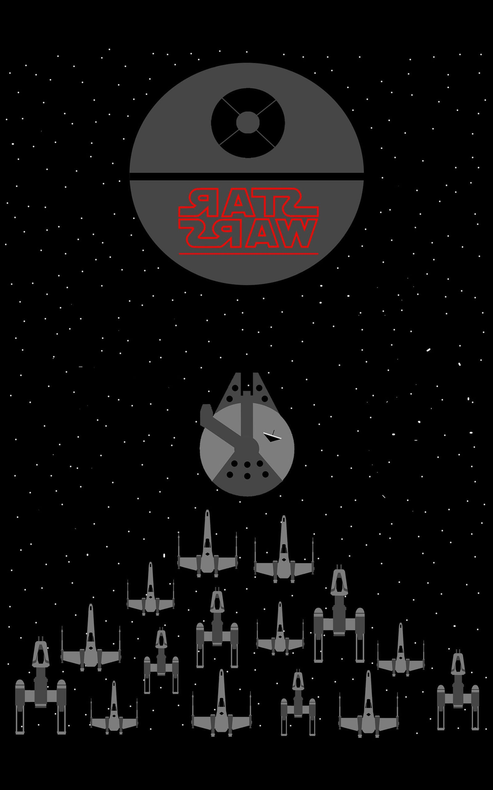 Star Wars, Millennium Falcon, X wing, Y Wing, Death Star, Space,  Minimalism, Portrait Display Wallpapers HD / Desktop and Mobile Backgrounds