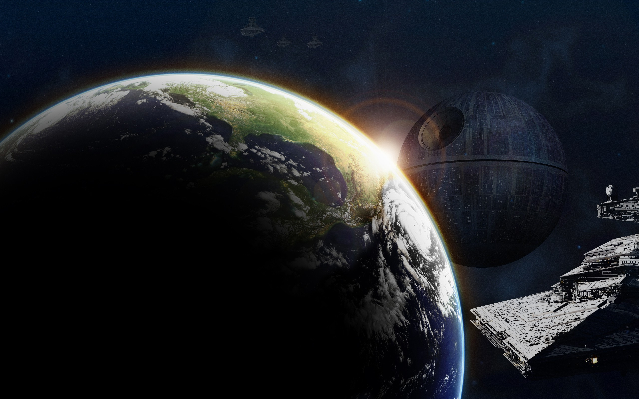 Star Wars, Earth, Space Art, Death Star, Star Destroyer Wallpapers HD /  Desktop and Mobile Backgrounds
