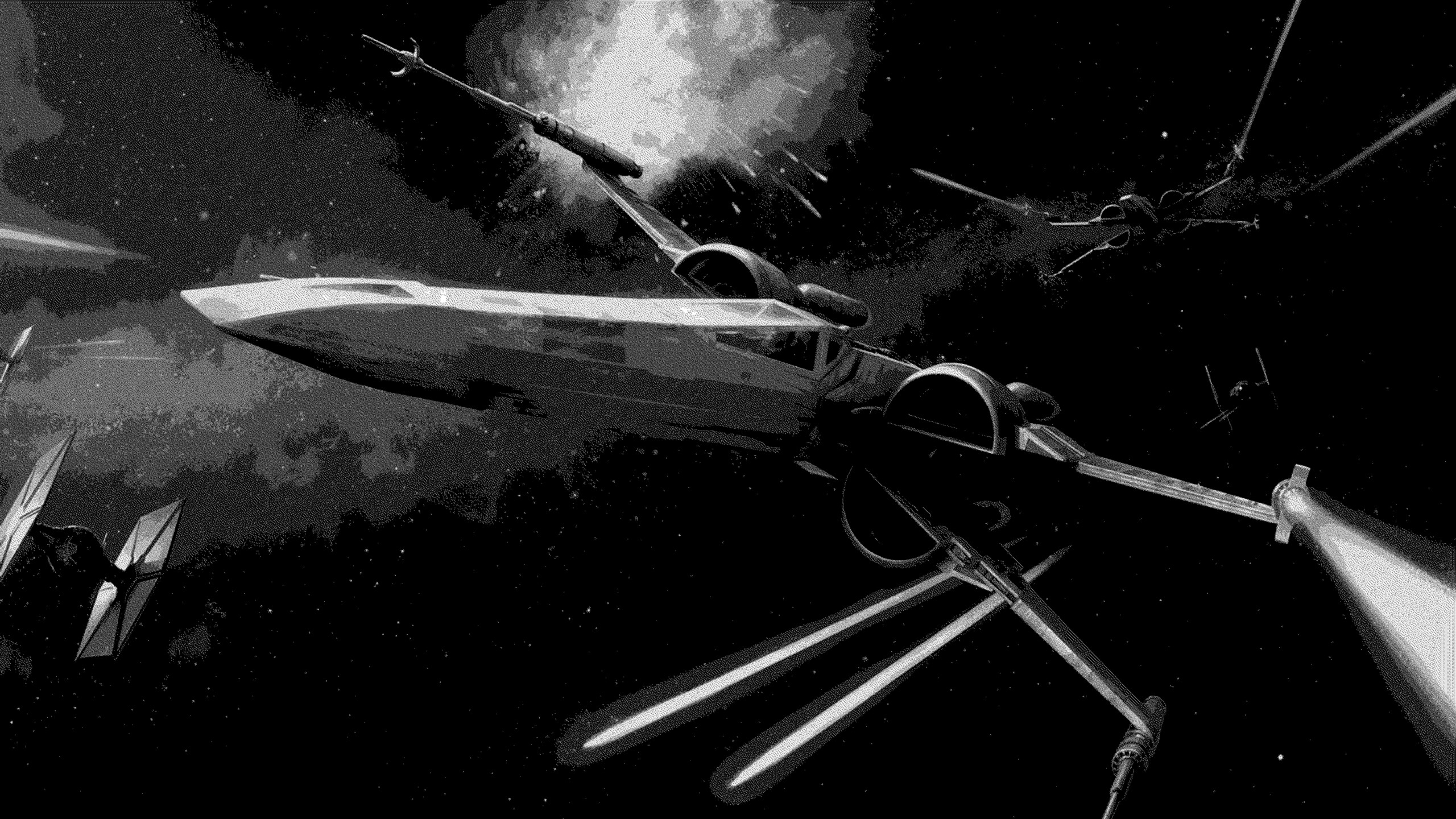 space, Spaceship, X wing, Star Wars
