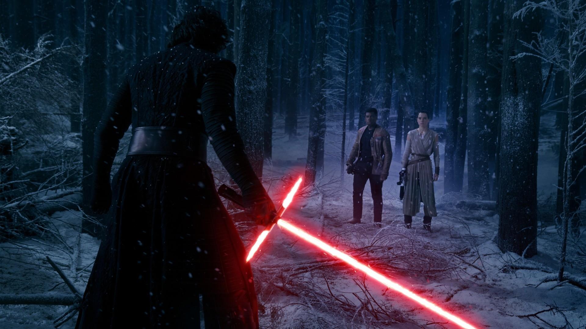 Star Wars Kylo Ren Lightsaber Finn Rey Wallpapers