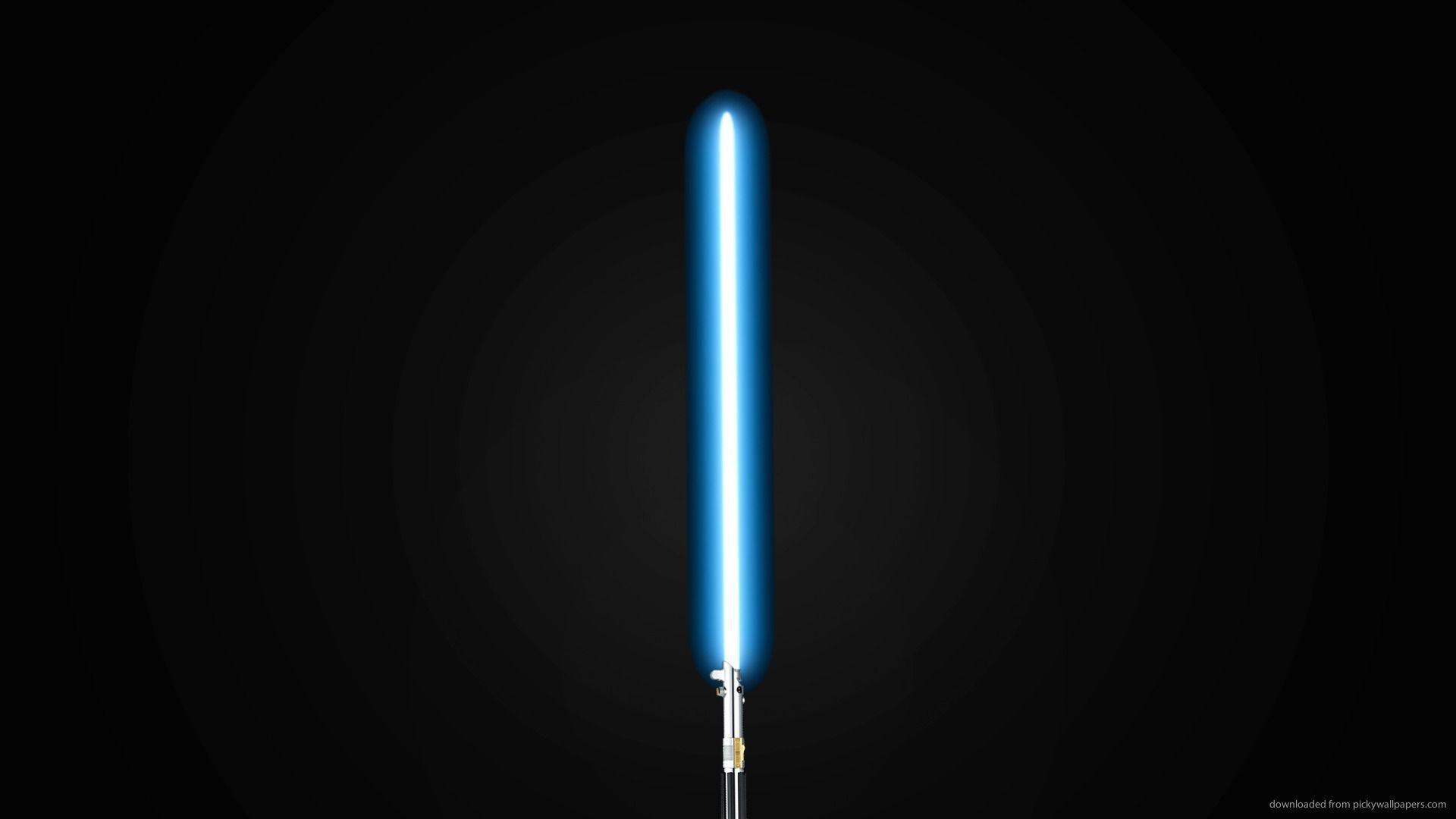 HD Blue Lightsaber Wallpaper