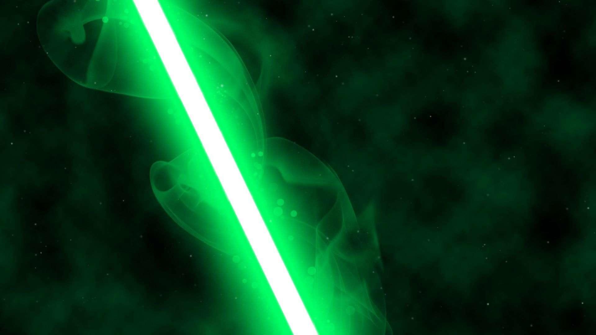 green lightsaber wallpaper