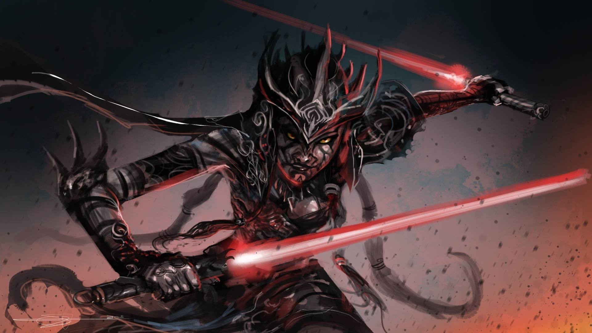 artwork, Fantasy Art, Star Wars, Lightsaber, Sith Wallpapers HD / Desktop  and Mobile Backgrounds