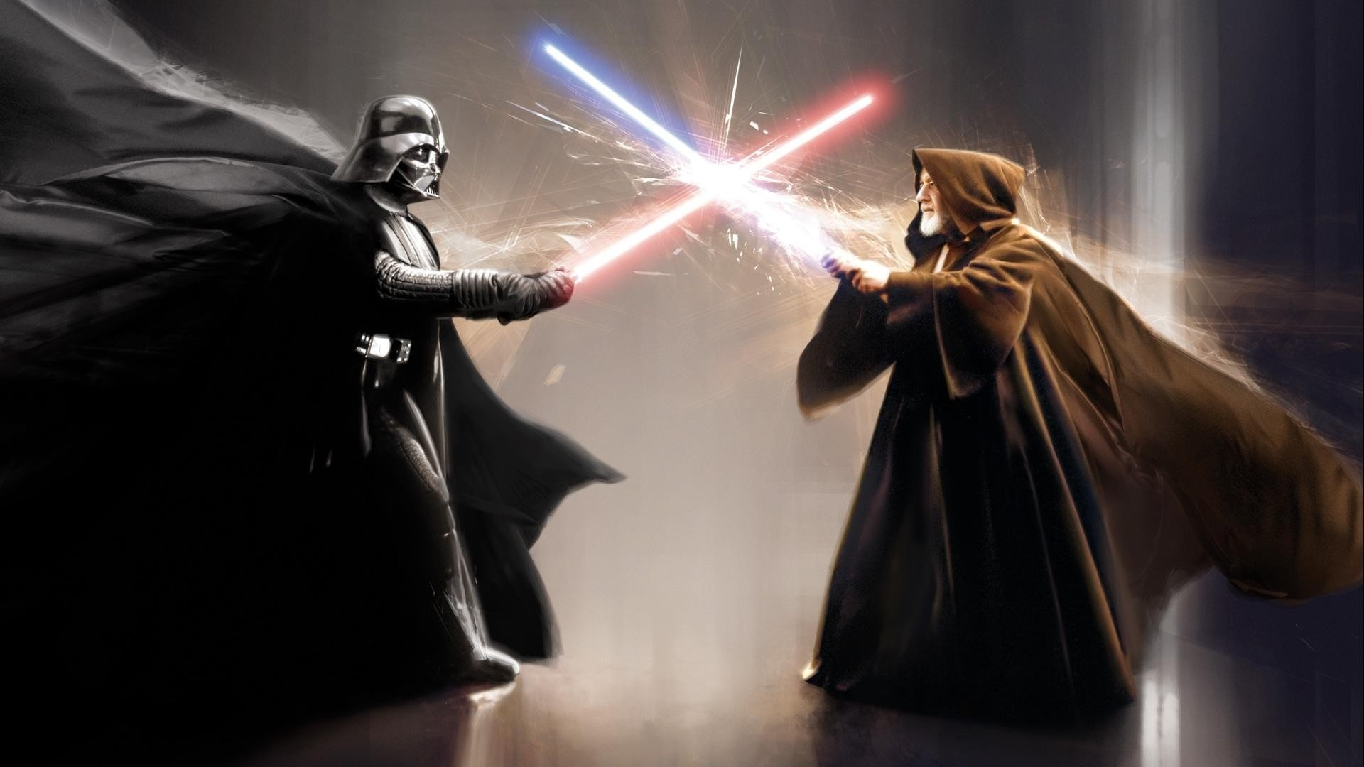 Darth Vader Obi Wan Kenobi movies star wars sci-fi weapons lightsaber  battle video games