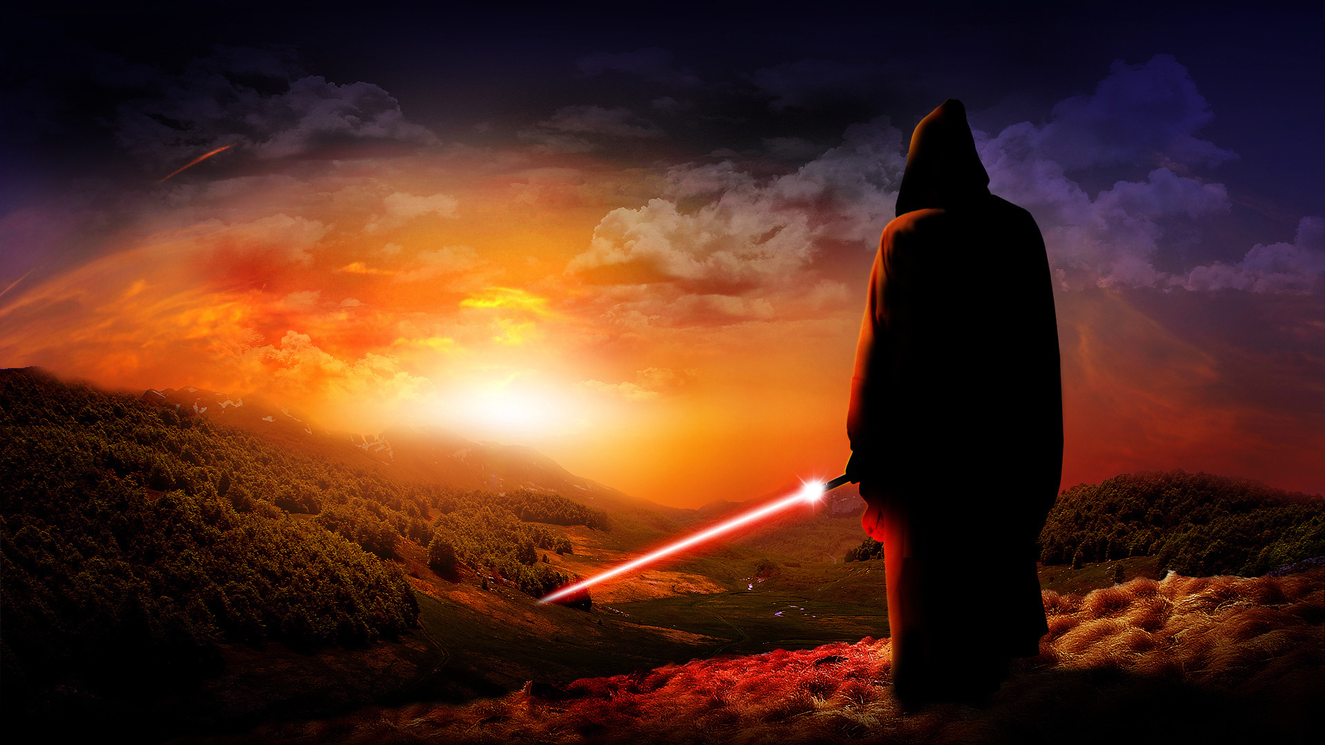 Black Background Dark Background Jedi Lightsabers Sith Star Wars free  iPhone or Android Full HD wallpaper.