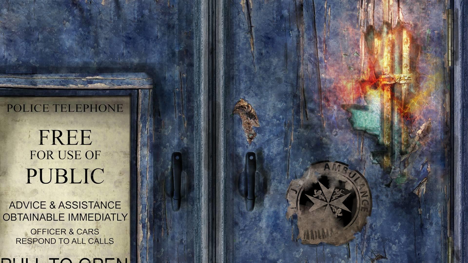 Broken Tardis Doors Doctor Who Tv Series hd wallpaper #