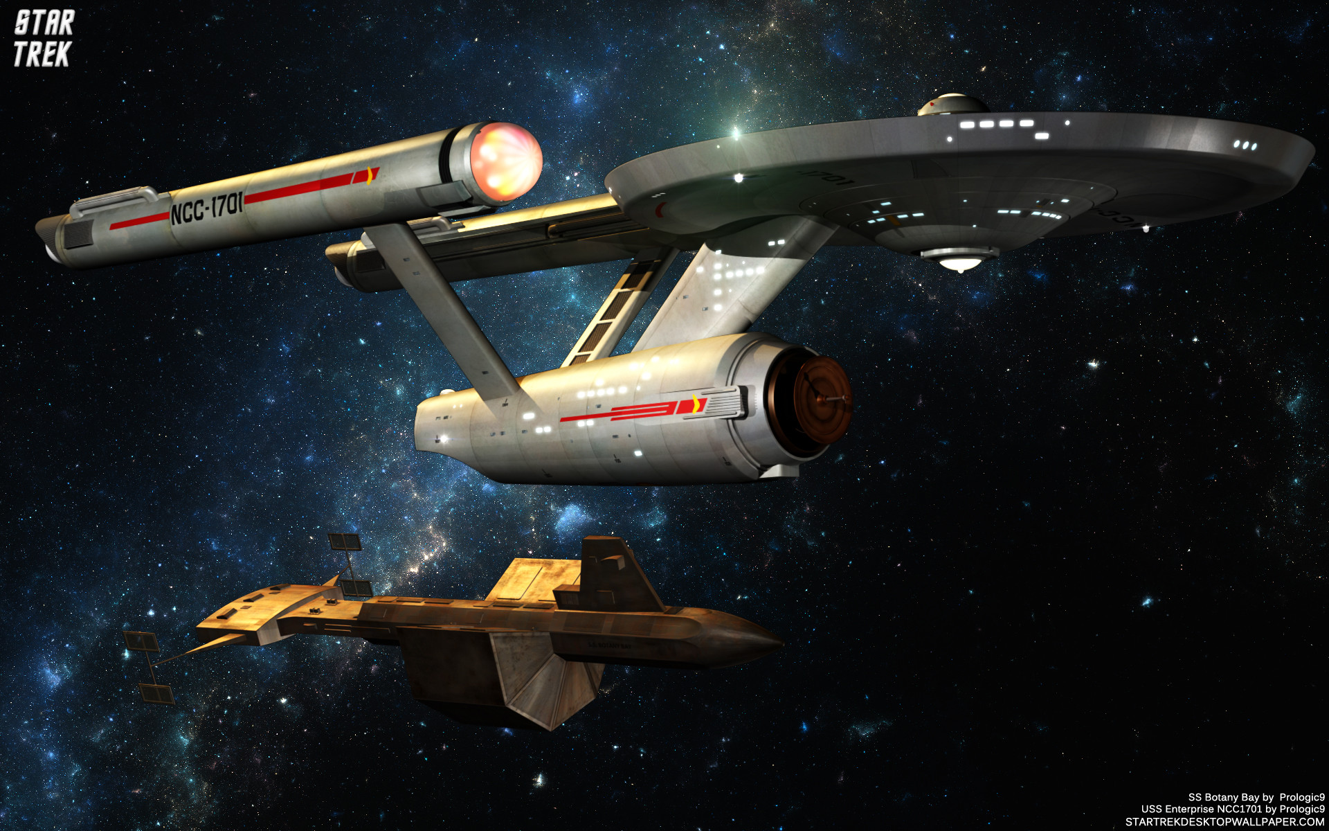 star trek   Star Trek SS Botany Bay – free Star Trek computer desktop  wallpaper .