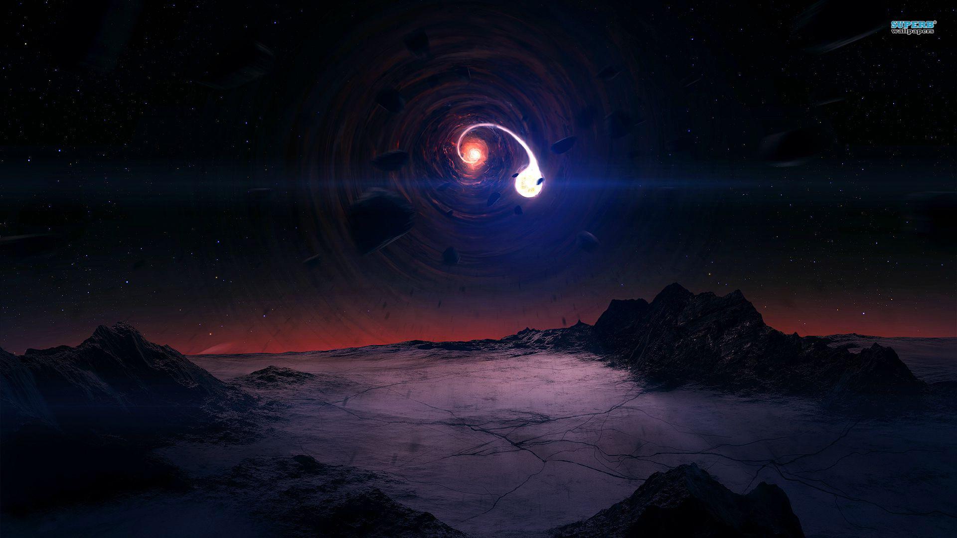 Interstellar Black Hole Gargantua HD desktop wallpaper High   HD Wallpapers    Pinterest   Wallpaper