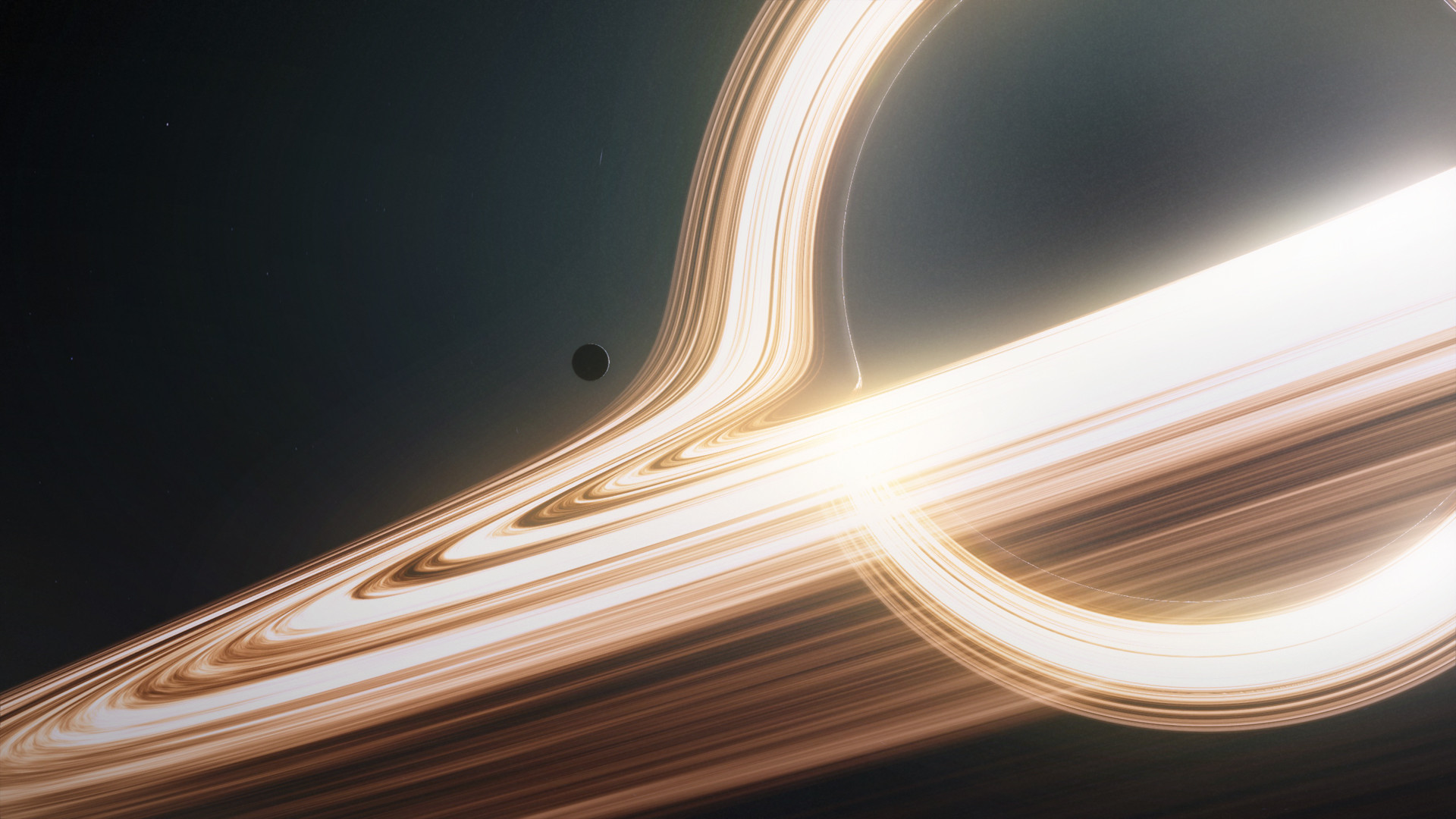 I took the Gargantua image I made a few days ago and decided to redo the  Photoshop job I did on it. The end result is this: