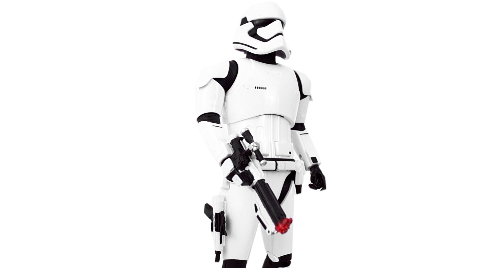 """Stormtrooper First Order Star Wars Disney Store Exclusive 14"""" Scale Talking  Toy Unboxing & Review!!"""
