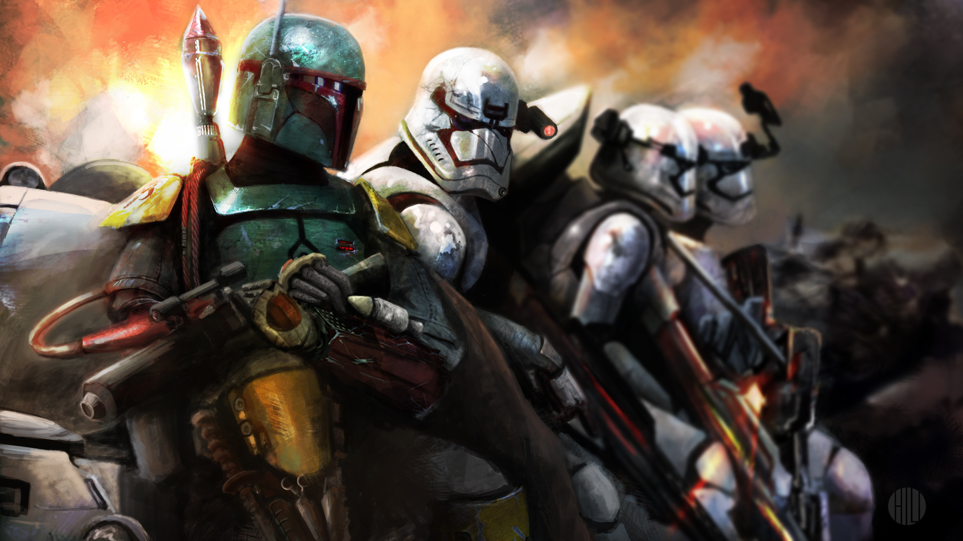 Boba Fett with First Order ERT squad