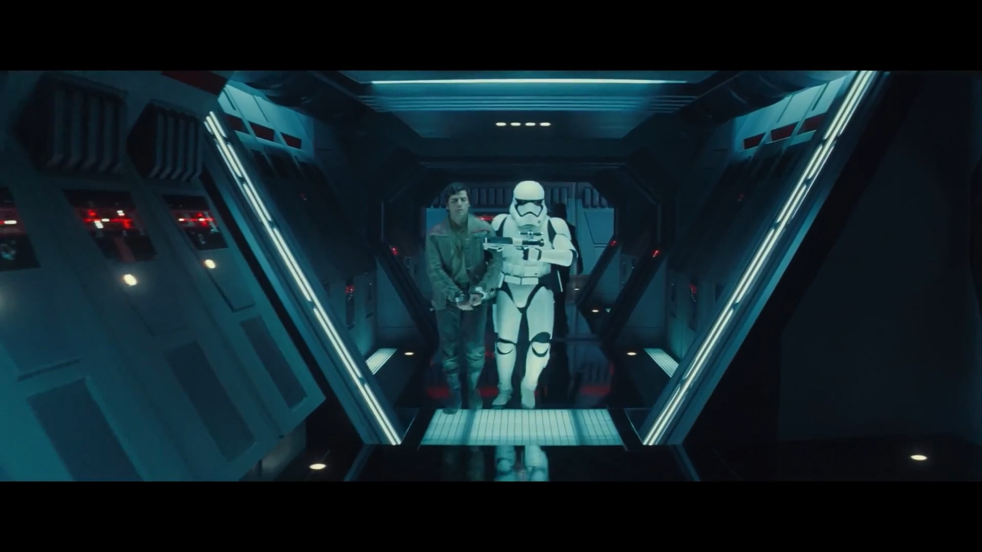 Check out how low the trooper's …