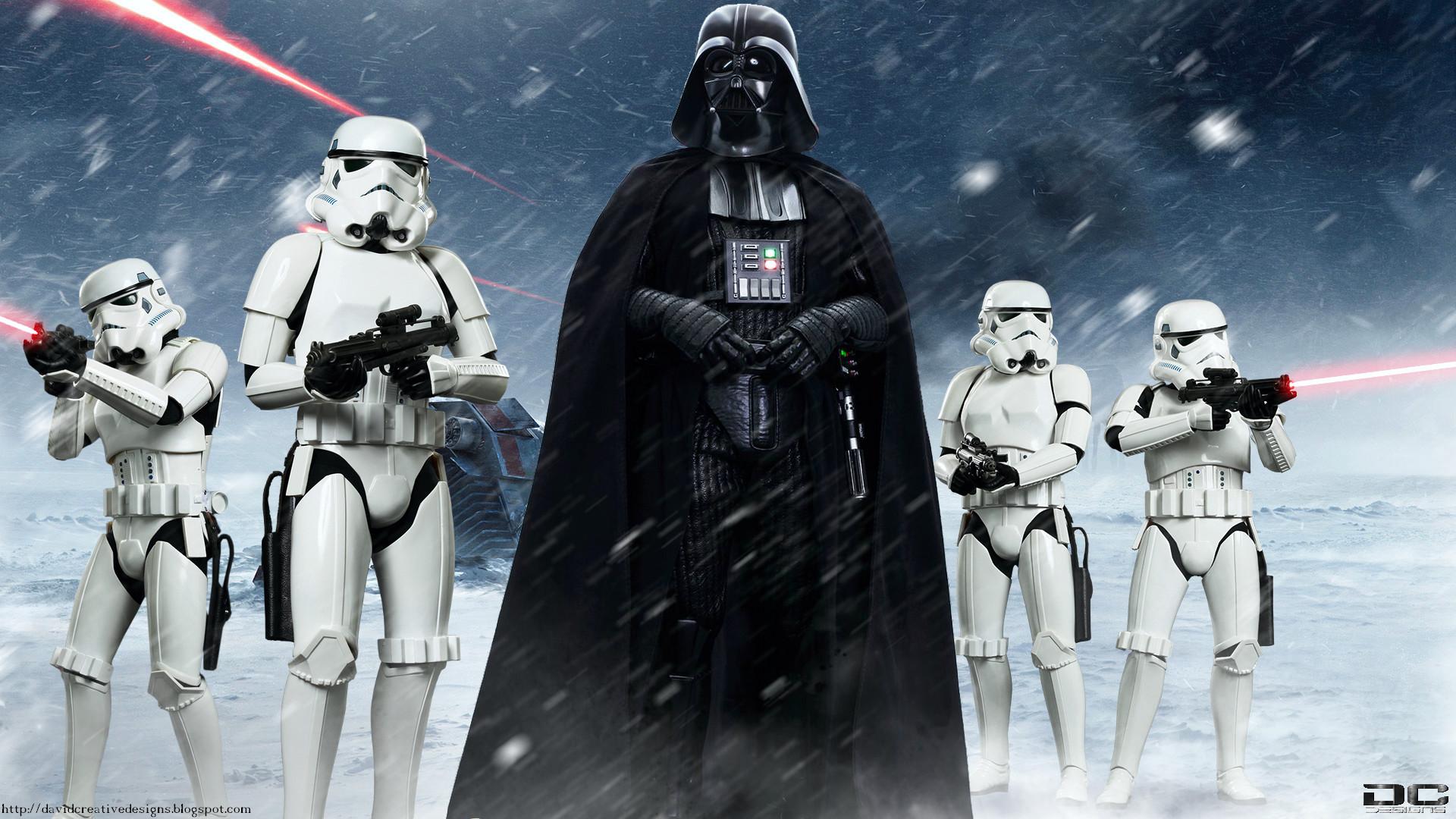 Movie Star Wars Hot Toys Fan Art Stormtrooper Darth Vader Wallpaper