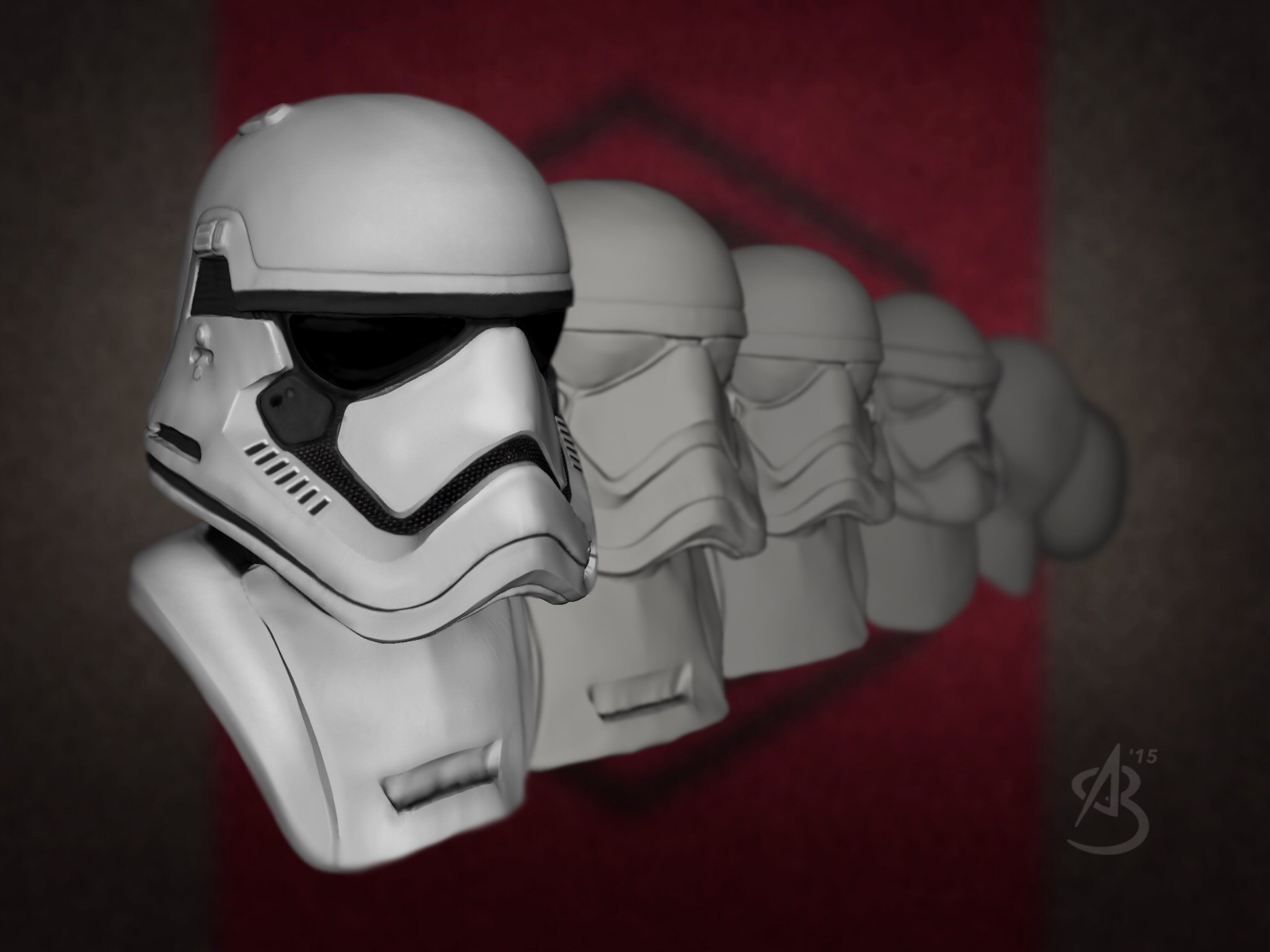 First Order Storntrooper, 123D Creature & 123D Sculpt+.
