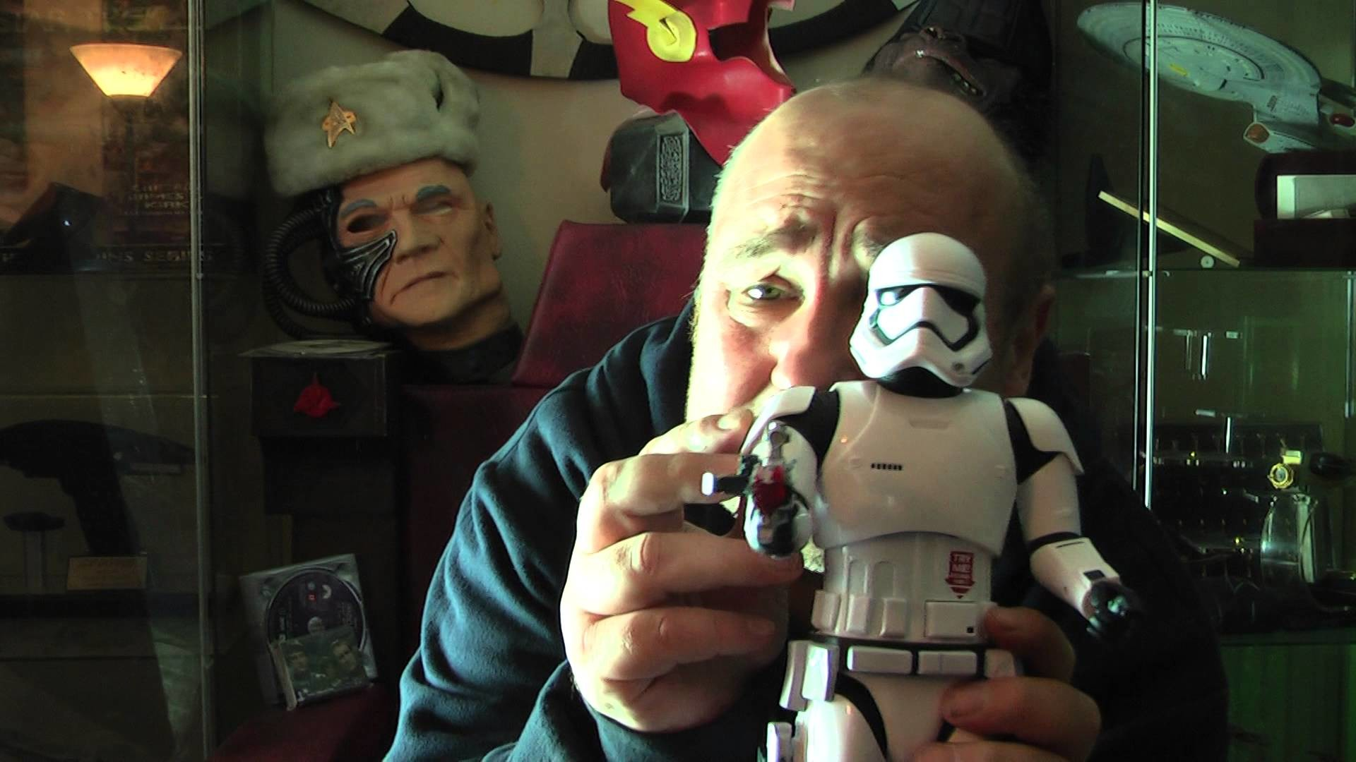 star wars first order 12 inch storm trooper figure review from disney store