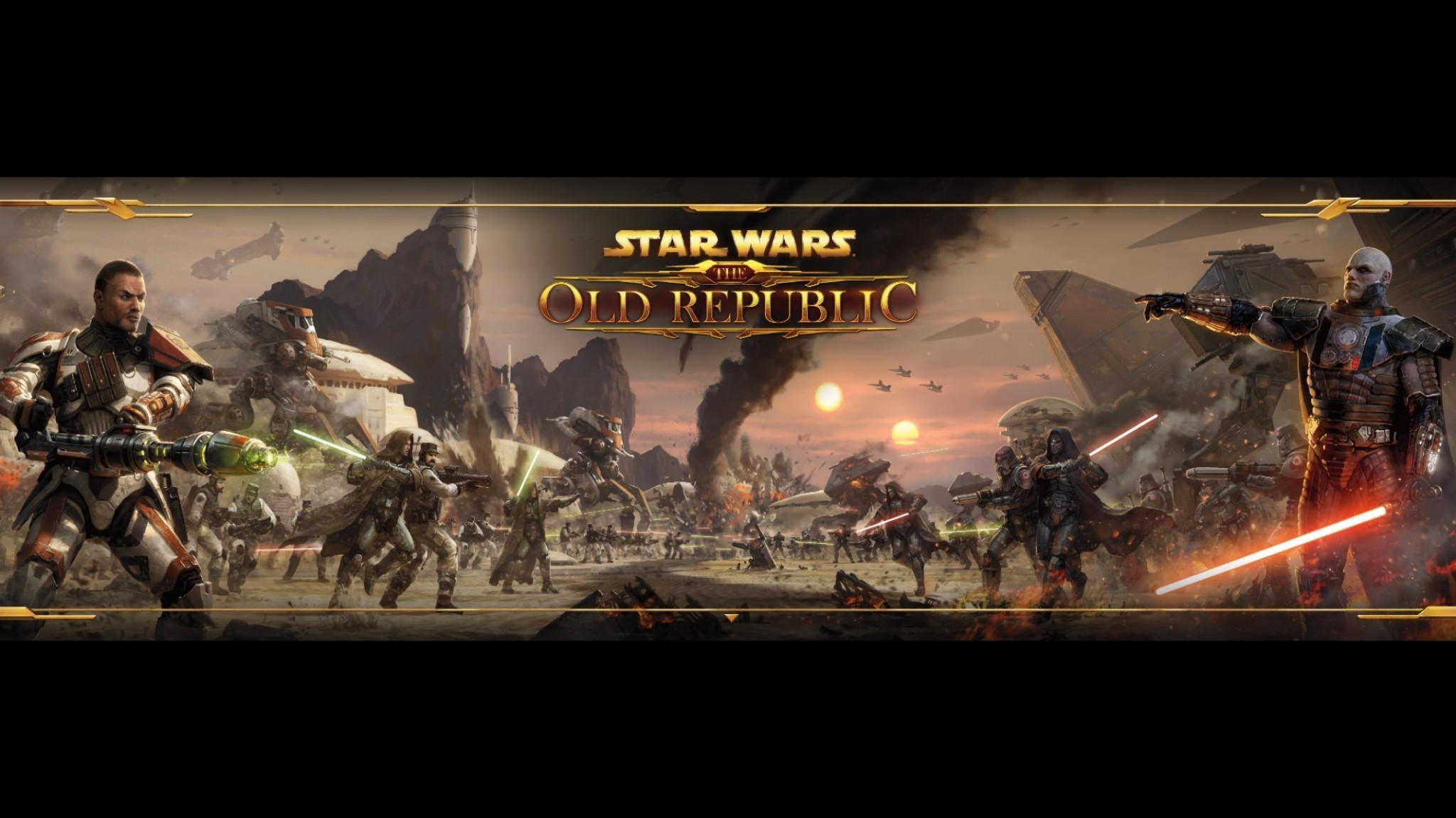 Star Wars: The Old Republic Dual Monitor Wallpaper 2048×1152