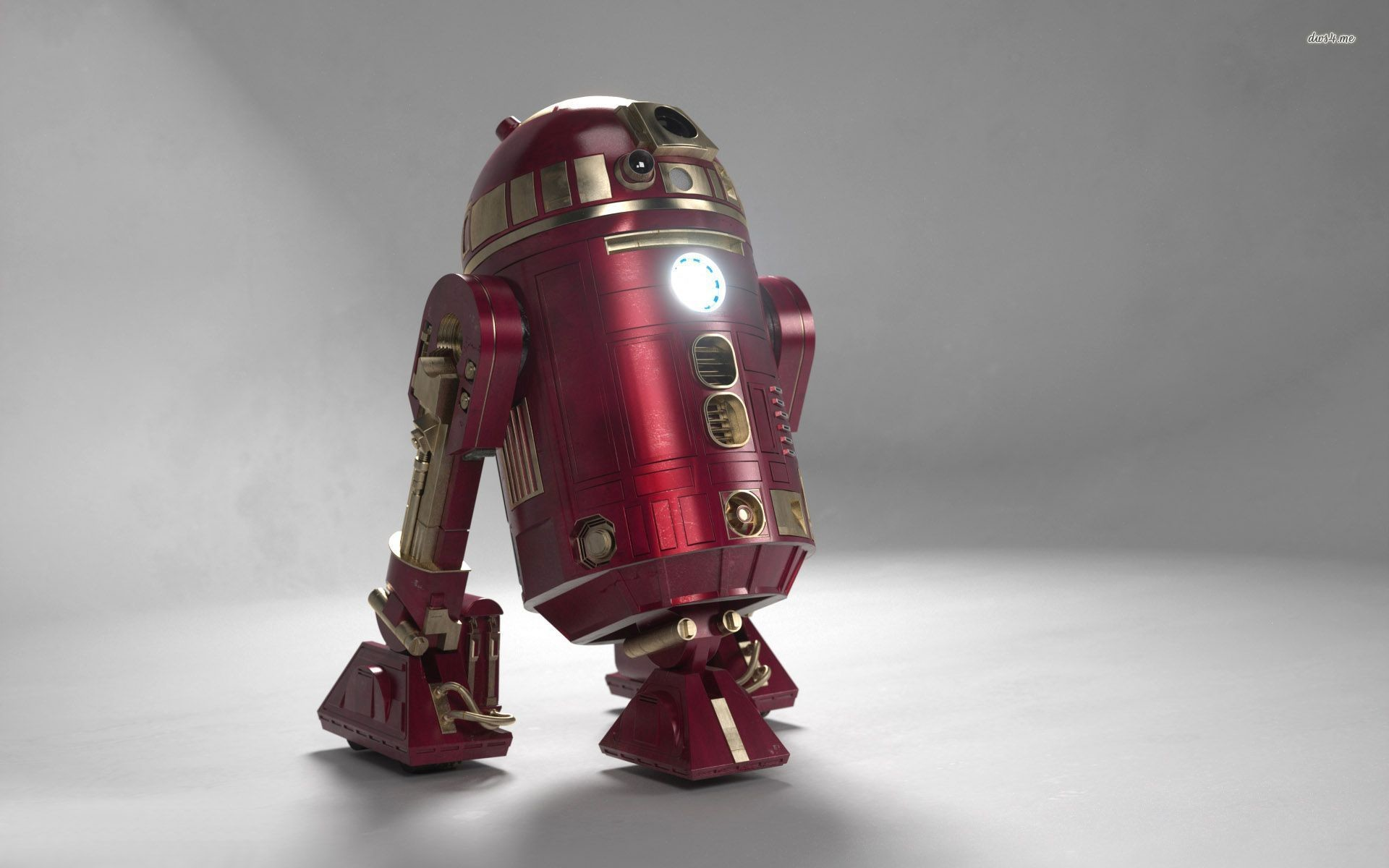 R2d2 In Iron Man Colors Images HD Wallpaper Movie #93930 Wallpaper
