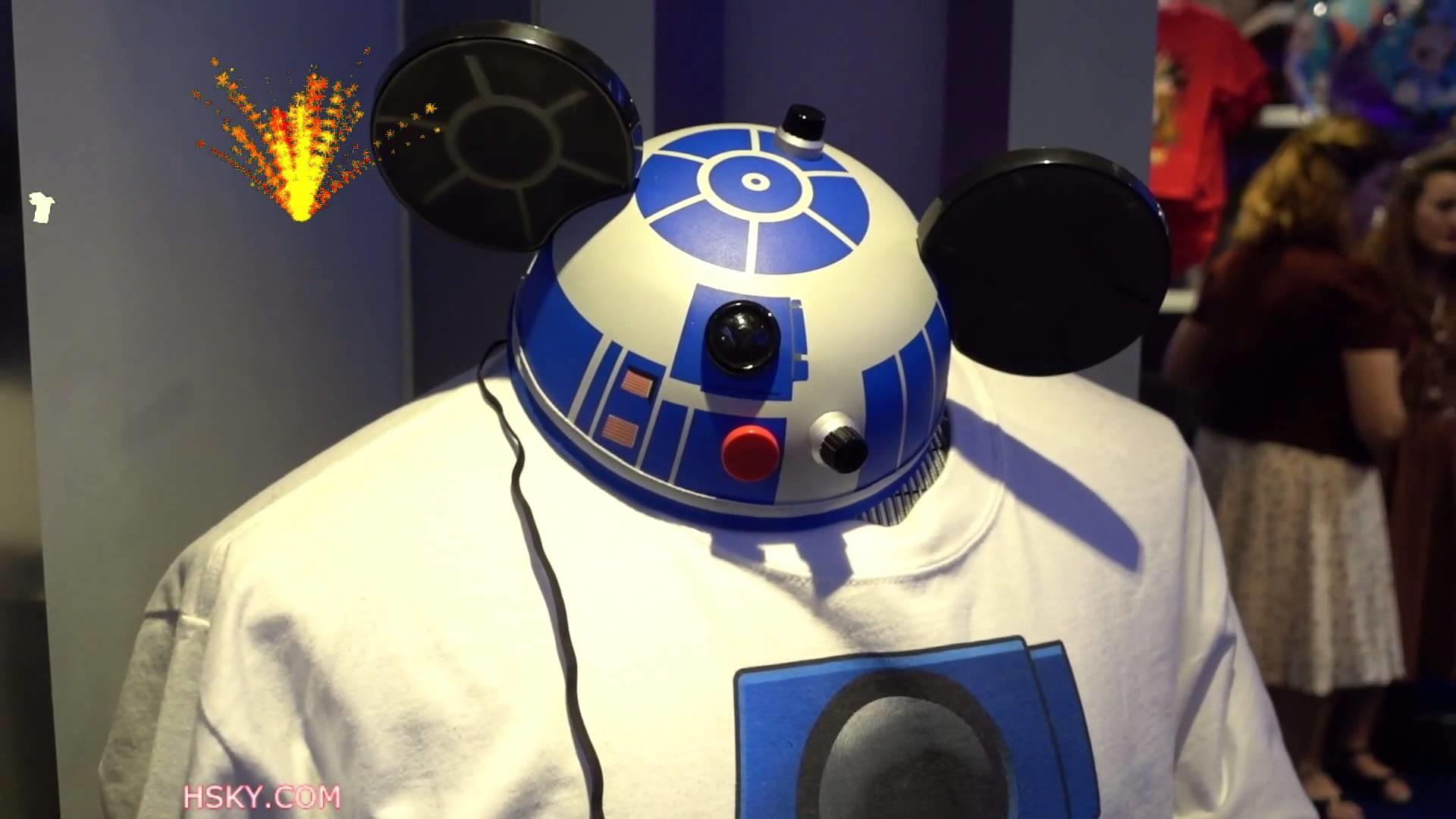 V#436 HSKY Star Wars R2-D2 Mickey Ear HAT @ Disneyland Tomorrow Land 2015 HD