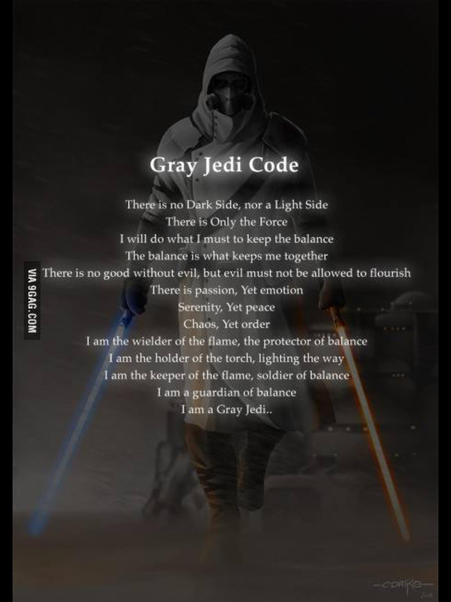 Grey Jedi Code