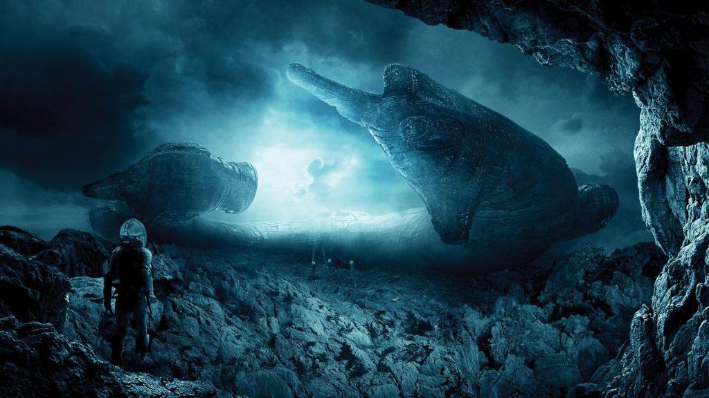 landscape, Digital Art, Prometheus (movie), Spaceship, Aliens Wallpapers HD  / Desktop and Mobile Backgrounds