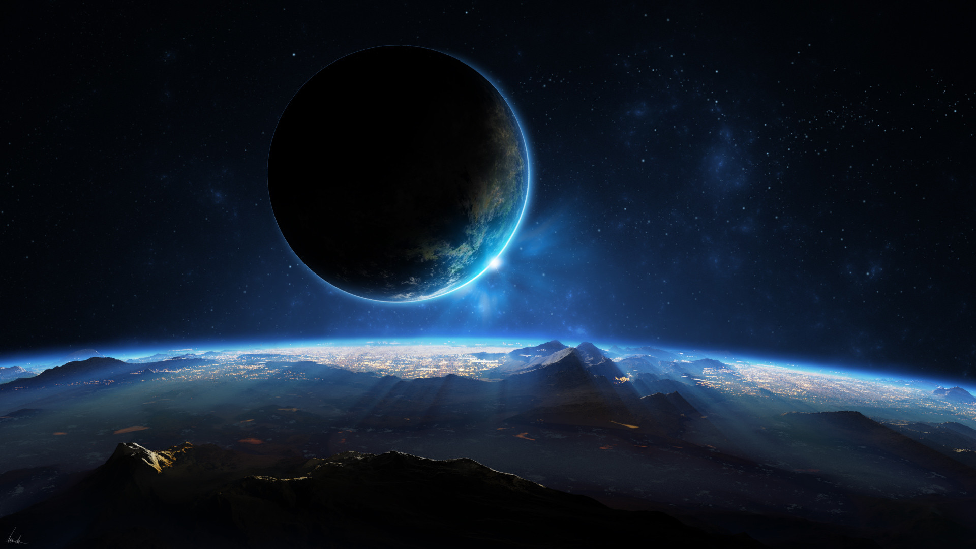 Alien Landscape Planet Stars Starlight space planets wallpaper |  | 79480 | WallpaperUP