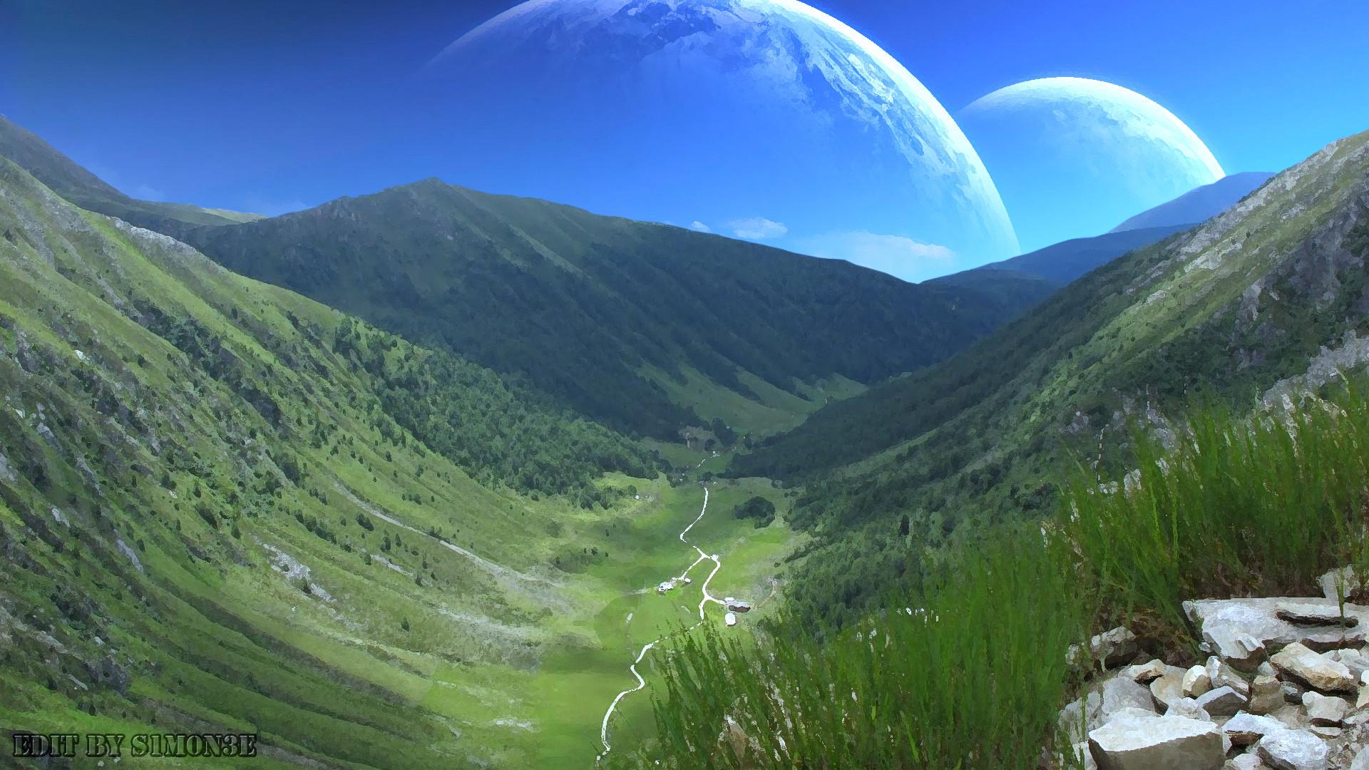 alien landscape by ttllkk2 digital art other landscapes scenery 2012 .