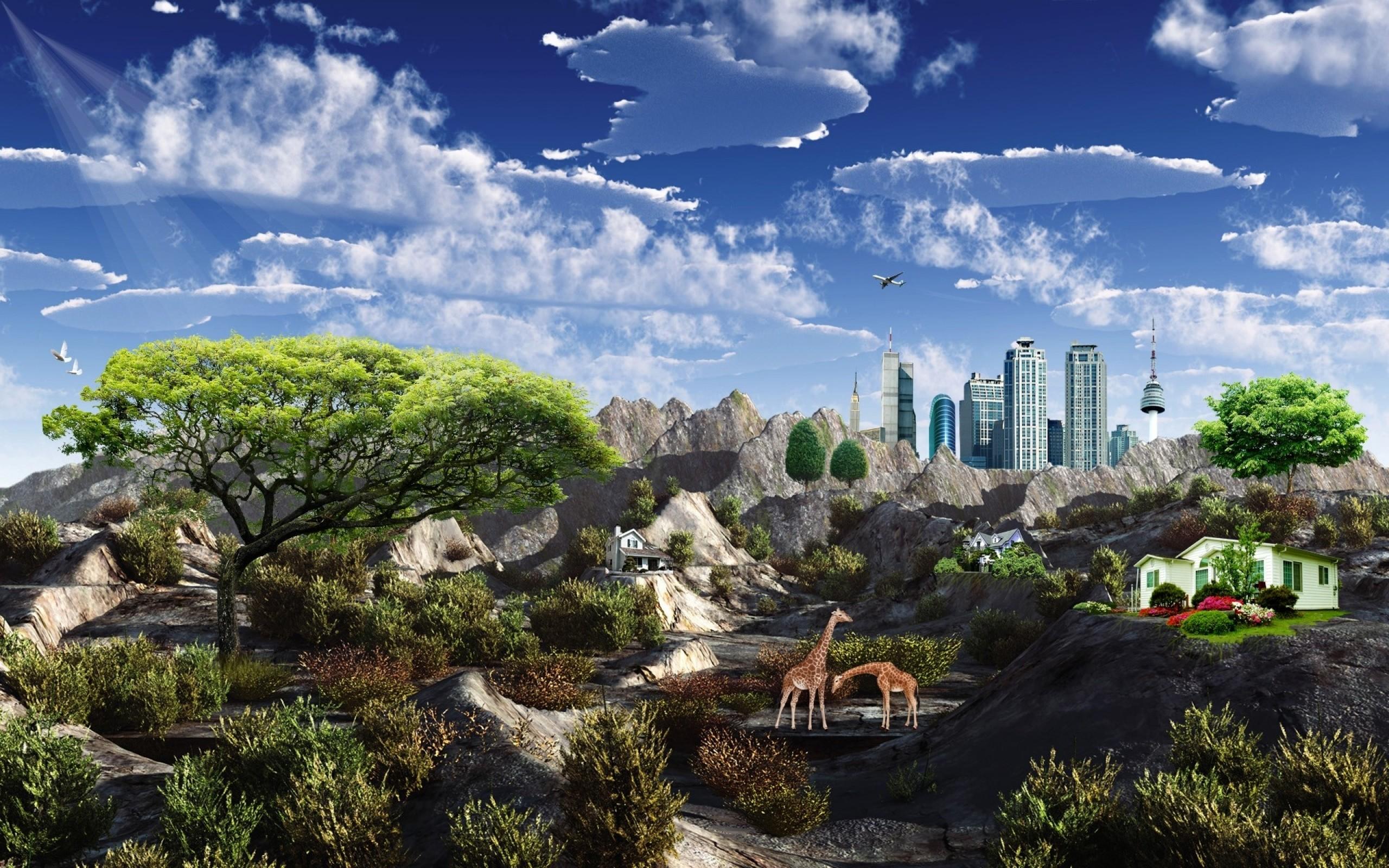 landscapes digital art alien landscapes 1920×1200 wallpaper Art HD Wallpaper