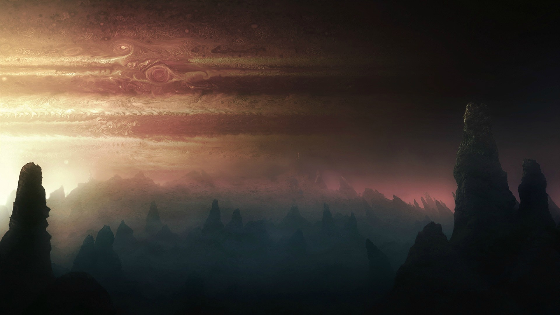Jupiter Planet Alien Landscape wallpaper | | 218940 | WallpaperUP