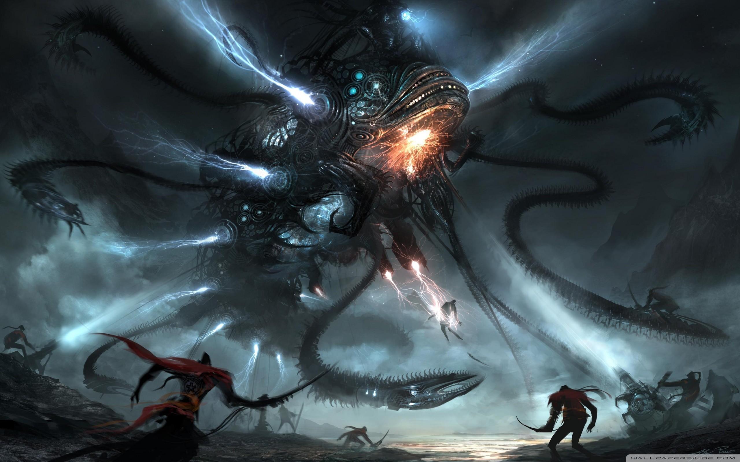 Ancient Alien Space Battle Wallpaper