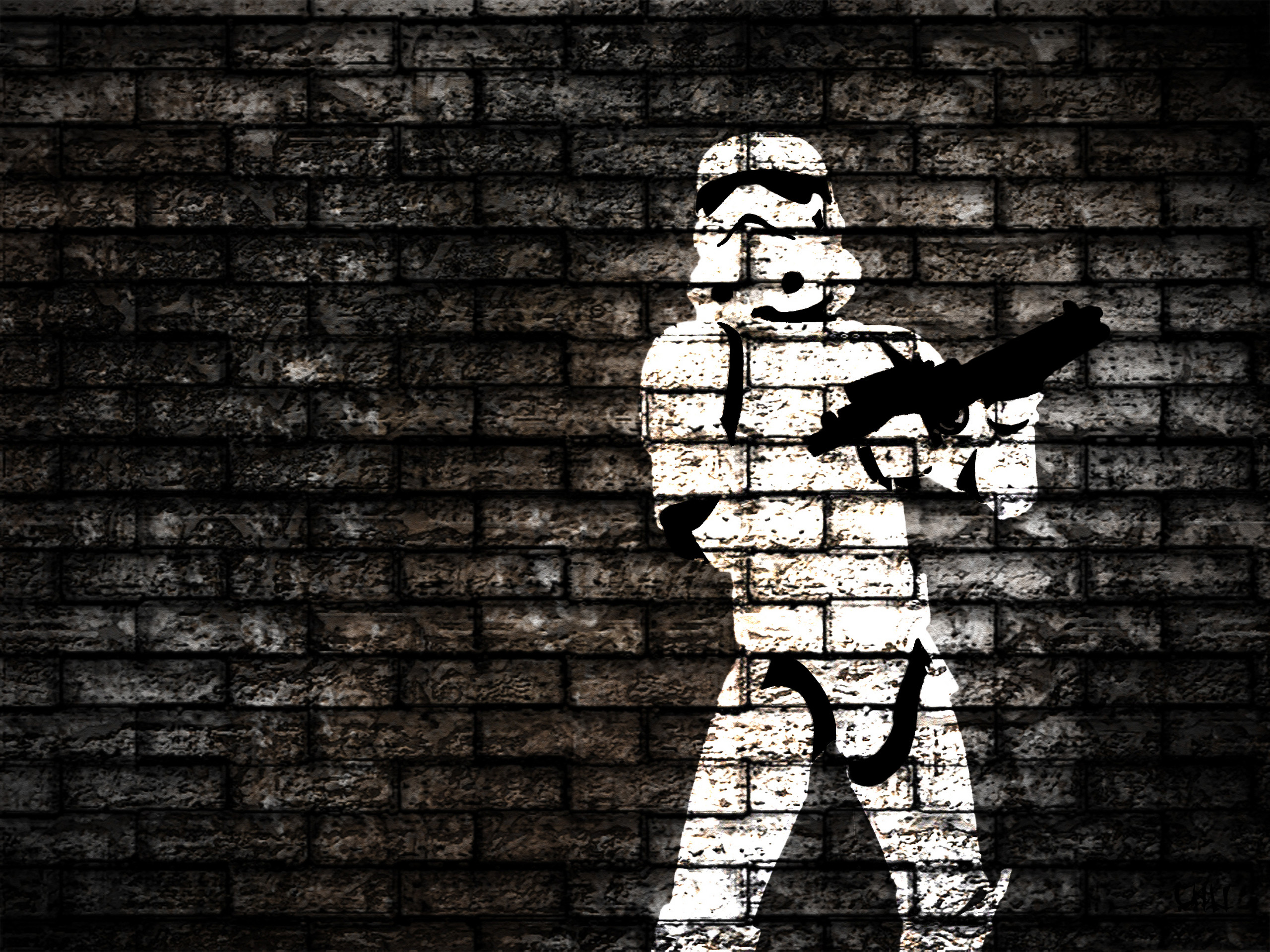 I made this wallpaper with photoshop.HD Wallpaper and background photos of Stormtrooper  Wallpaper for fans of Star Wars images.