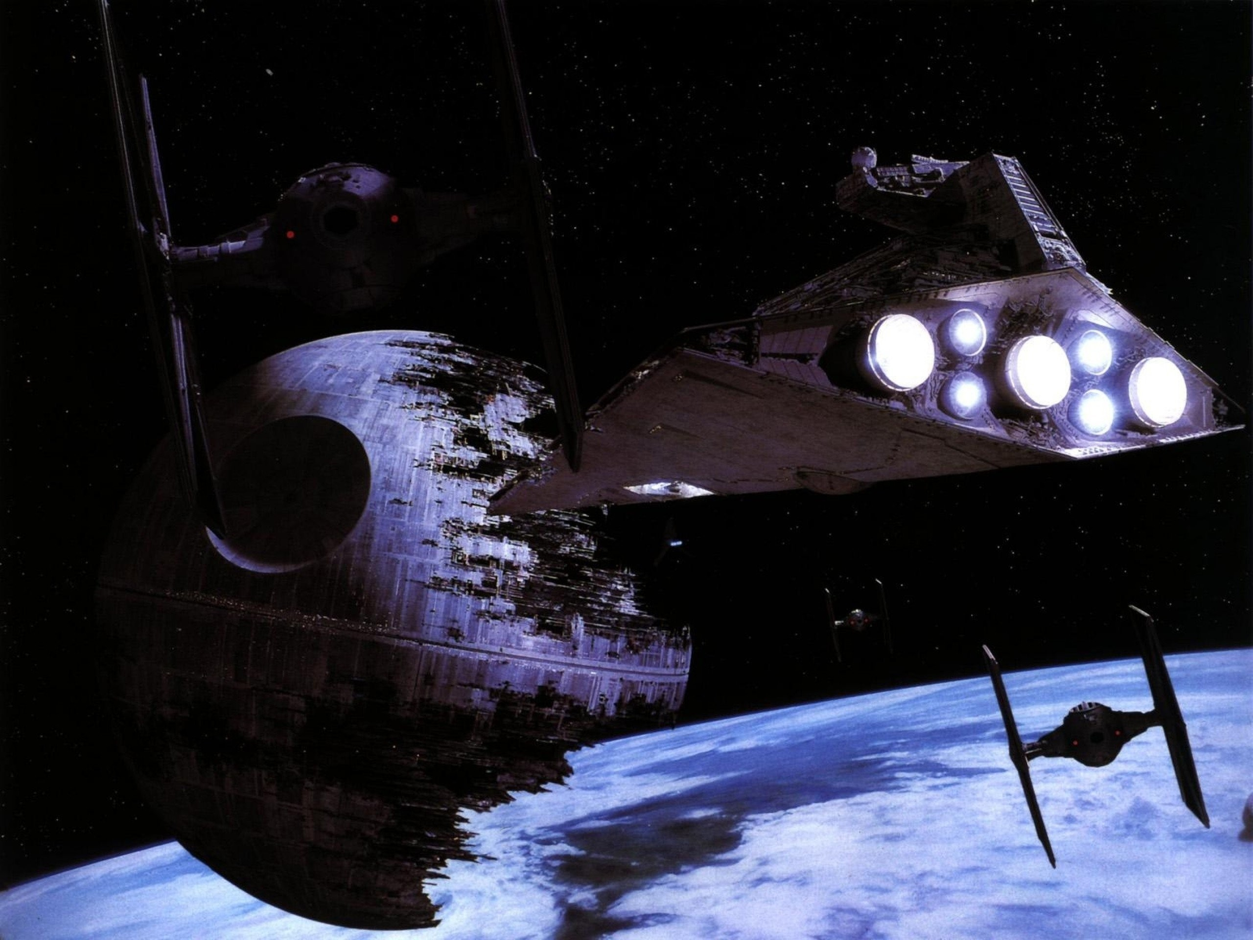 Star Wars Moon Death Star Tie fighters Star Destroyer Return of the Jedi  starwars wallpaper     337394   WallpaperUP