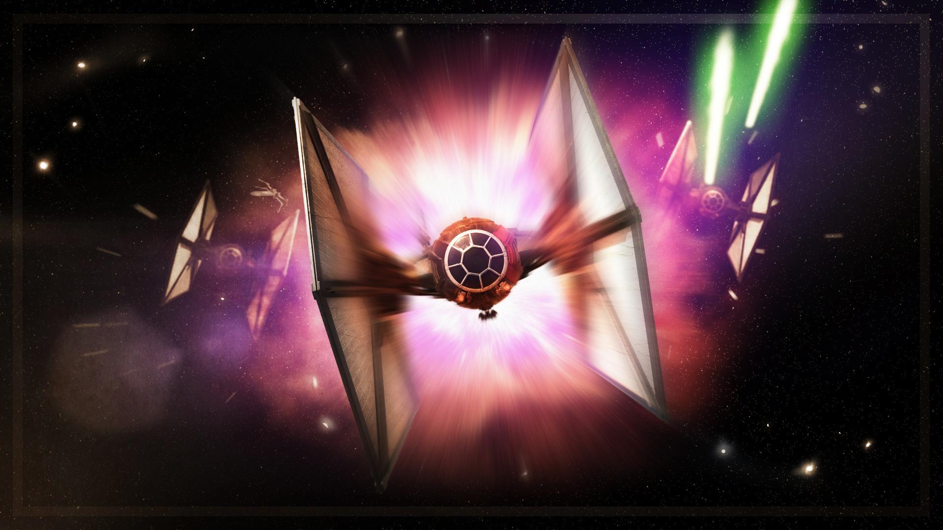 Star Wars: Tie Fighter Wallpaper (1920×1080) by Valkia