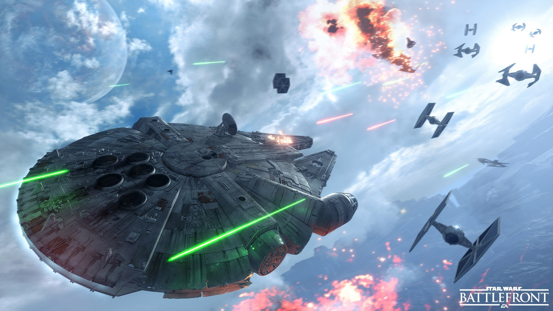 Star Wars: Battlefront, Video Games, Millennium Falcon, TIE Fighter  Wallpapers HD / Desktop and Mobile Backgrounds