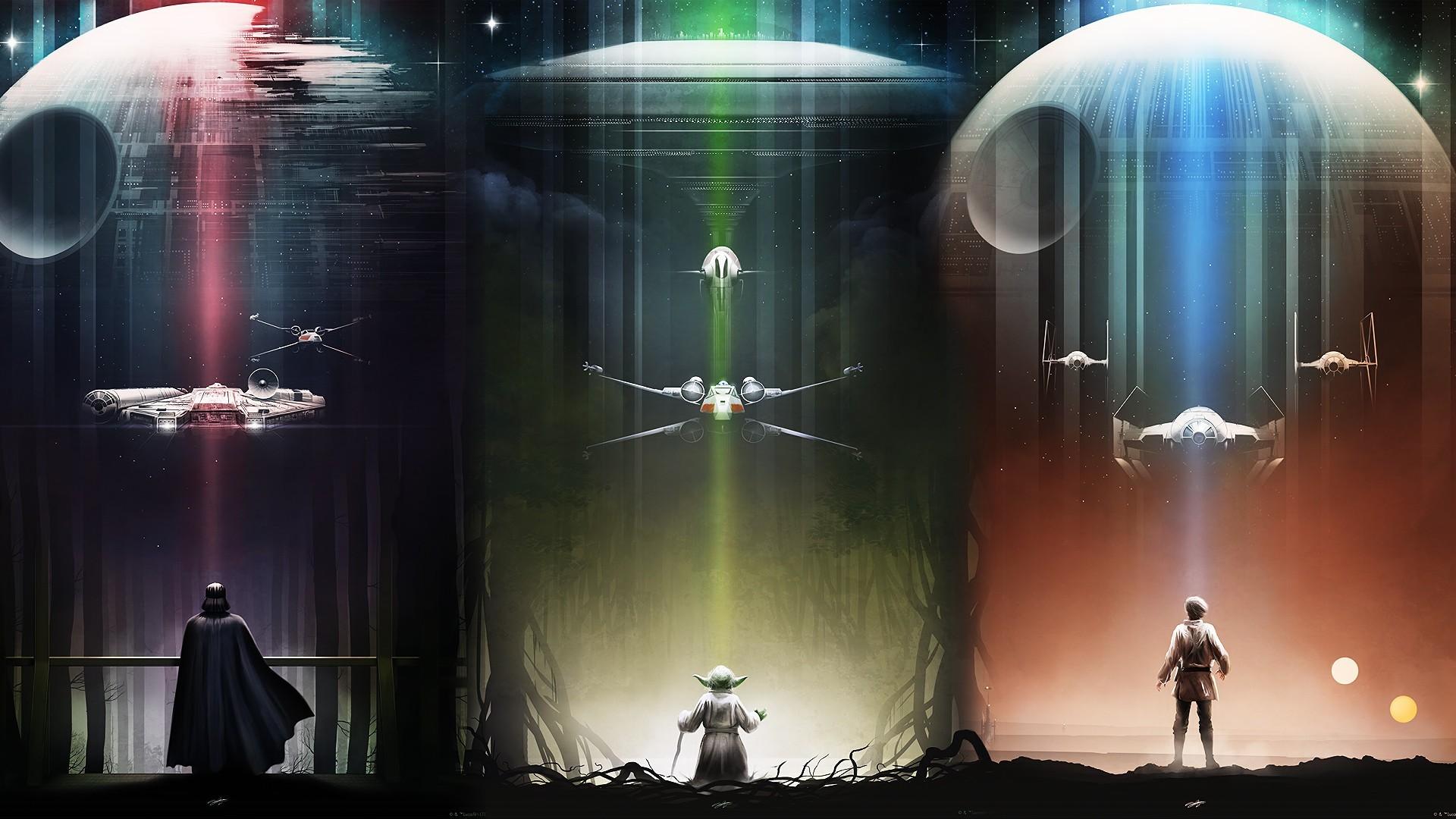 Sci Fi – Star Wars Darth Vader Yoda Death Star X-Wing TIE Fighter Millennium