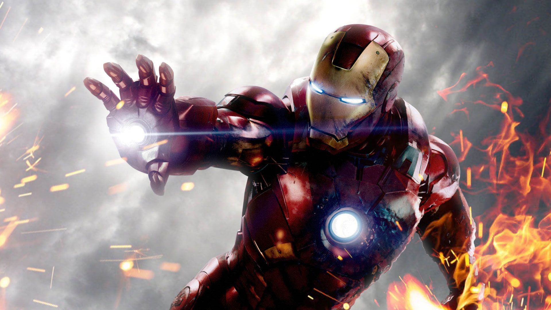 Ironman Wallpaper Iron Man In Action In The Fire 1920?1080 .