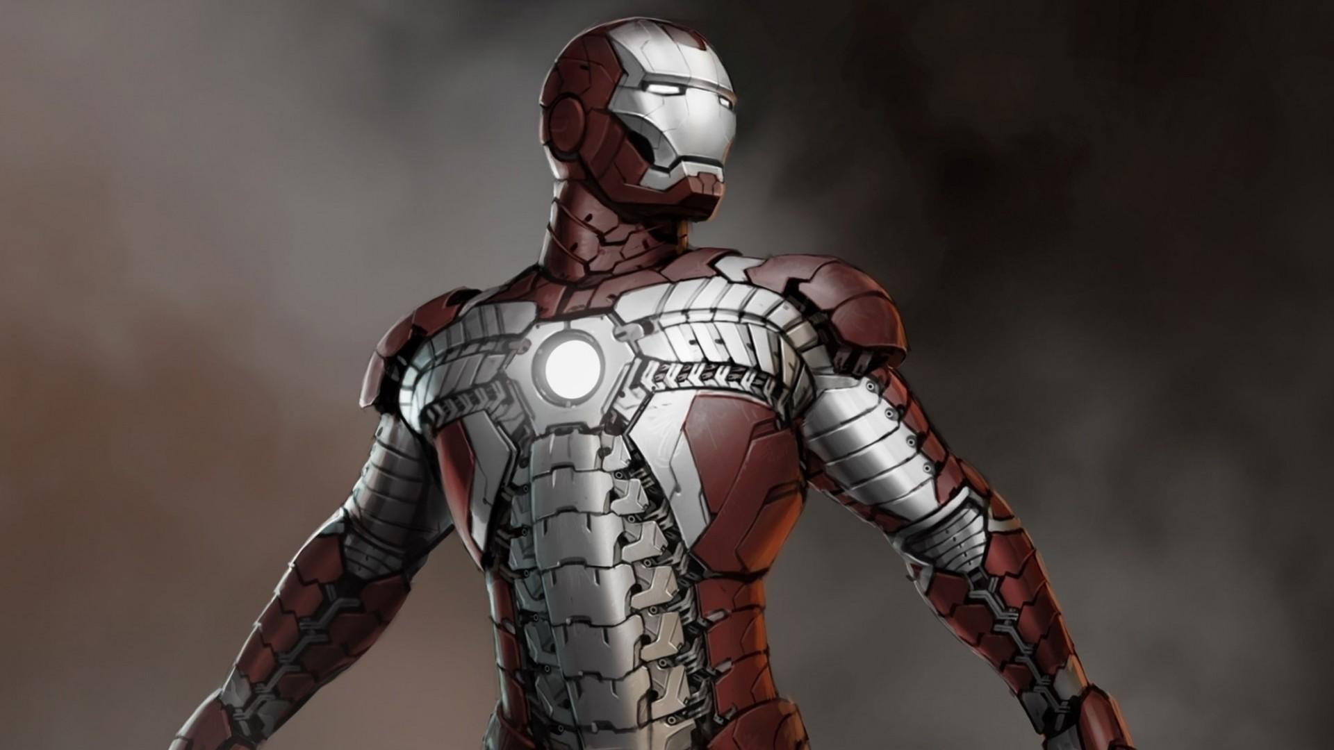 Wallpaper iron man, concept art, artwork, marvel comics