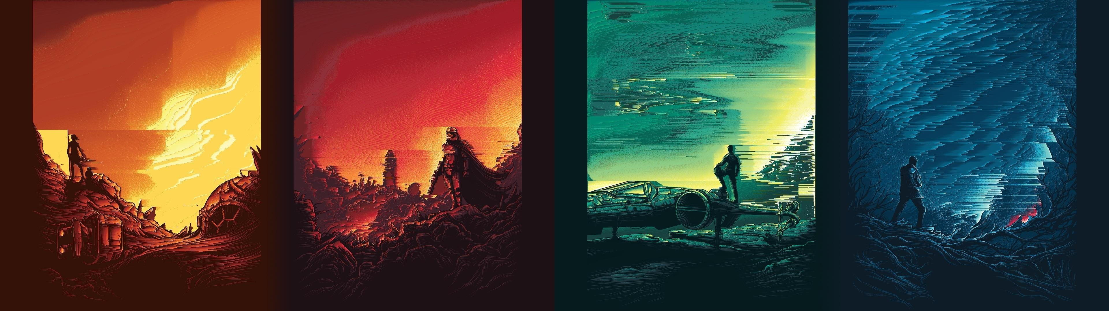 multiple display, Dual monitors, Star Wars, Star Wars: The Force Awakens  Wallpapers HD / Desktop and Mobile Backgrounds