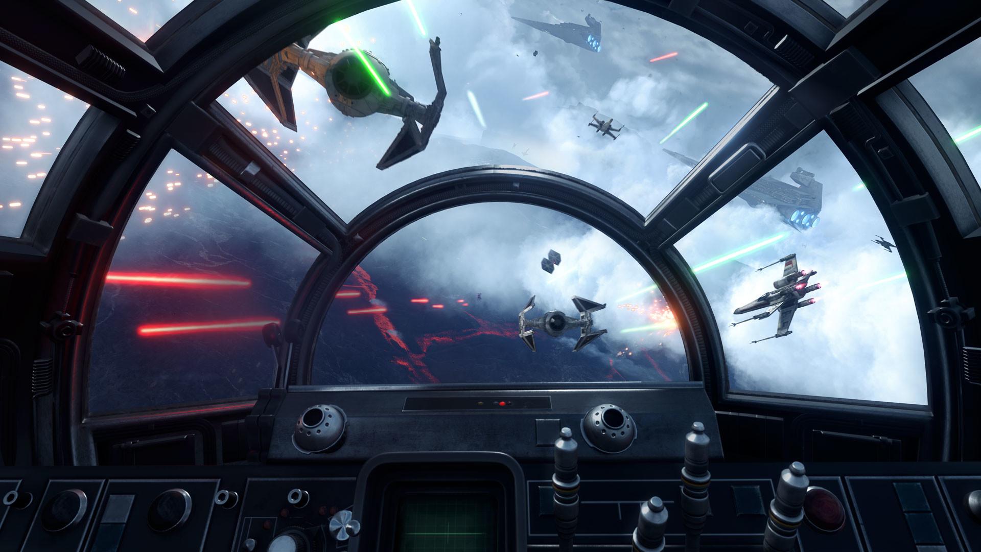Star Wars Battlefront Millenium Falcon cockpit view