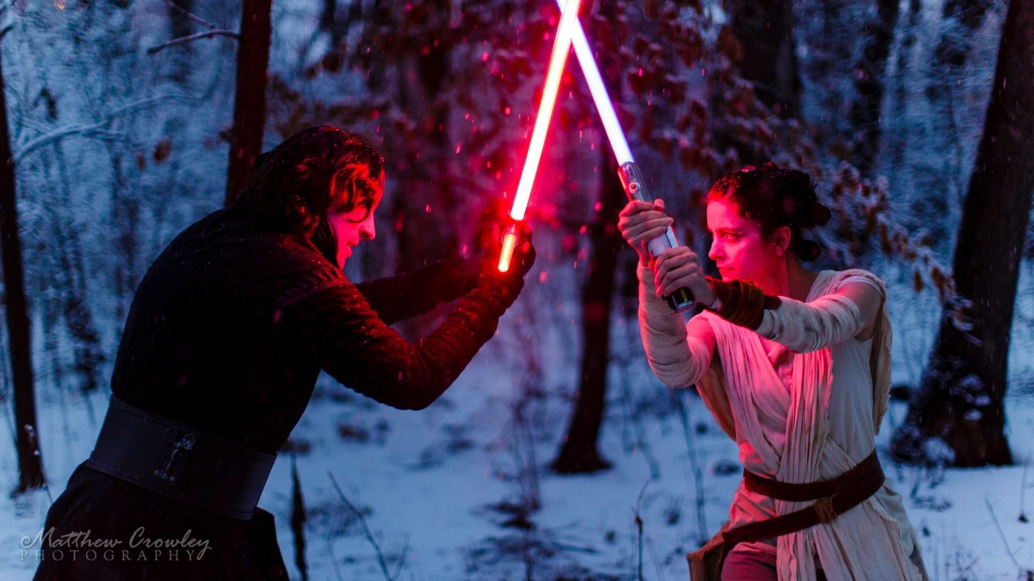 Kylo Ren Vs Rey Fight- Star Wars 7 1080p (HD)