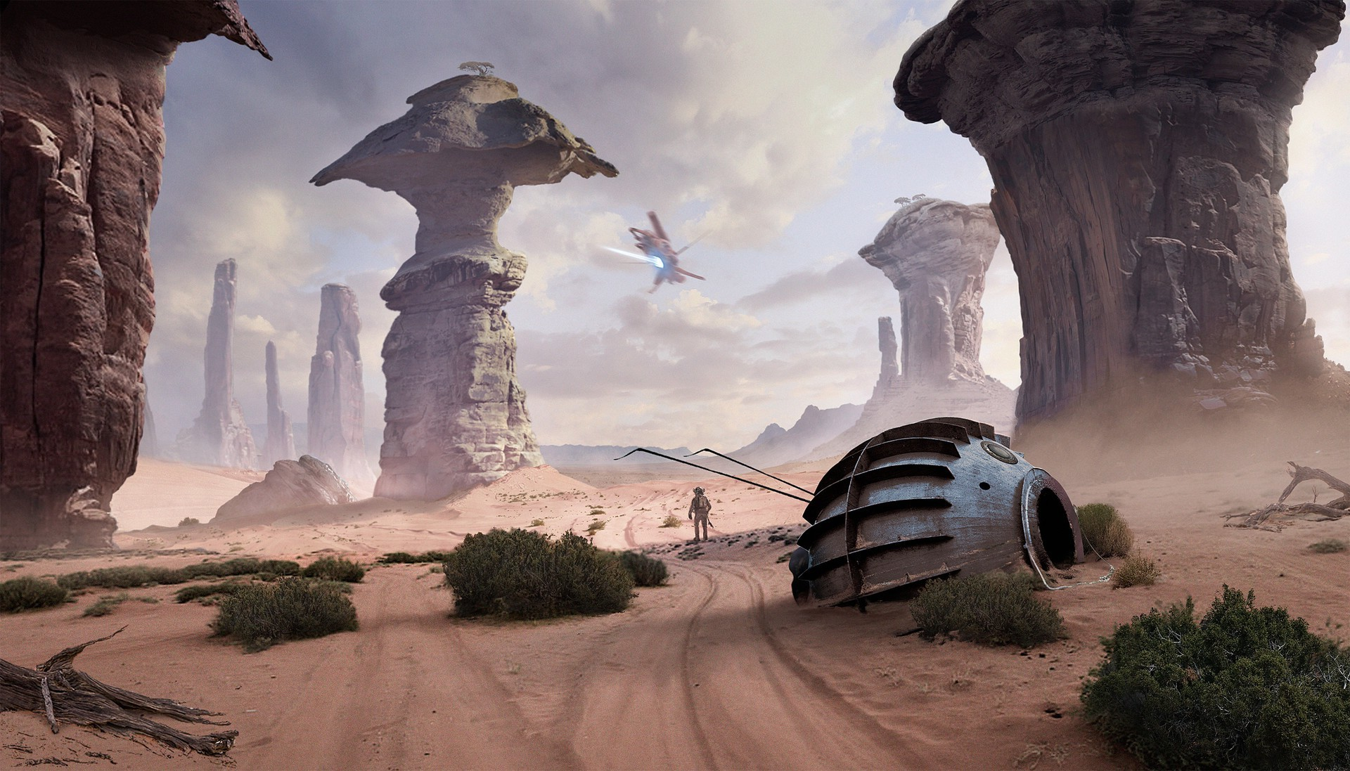 Star Wars Landscape Wallpaper