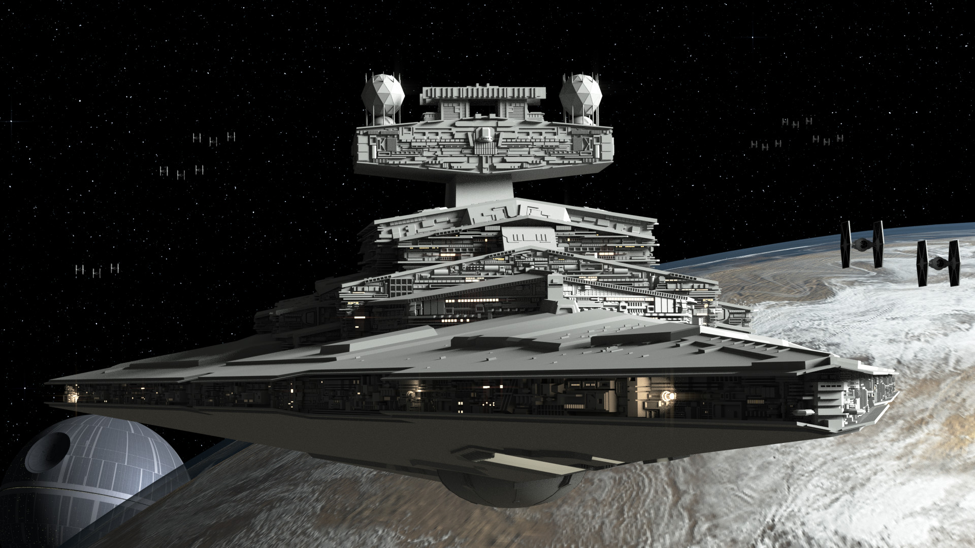 WIPImperial II Class Star Destroyer – Still needs lots of work, but I'd  like to know what you all think I can improve on!