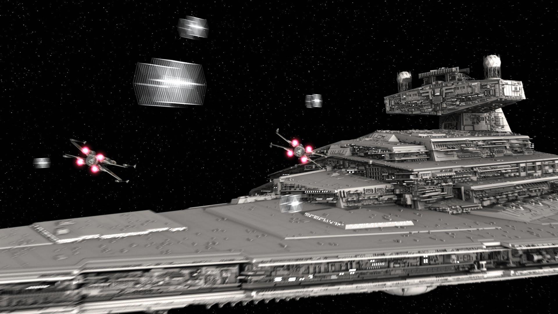 Star Wars Blender Animation – Star Destroyer Test (Scene 24 a, b) – YouTube