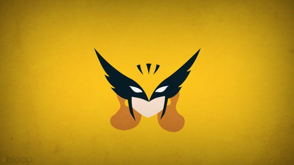 illustration minimalism logo yellow hero superhero DC Comics Hawkgirl Blo0p  leaf wing bat computer wallpaper macro